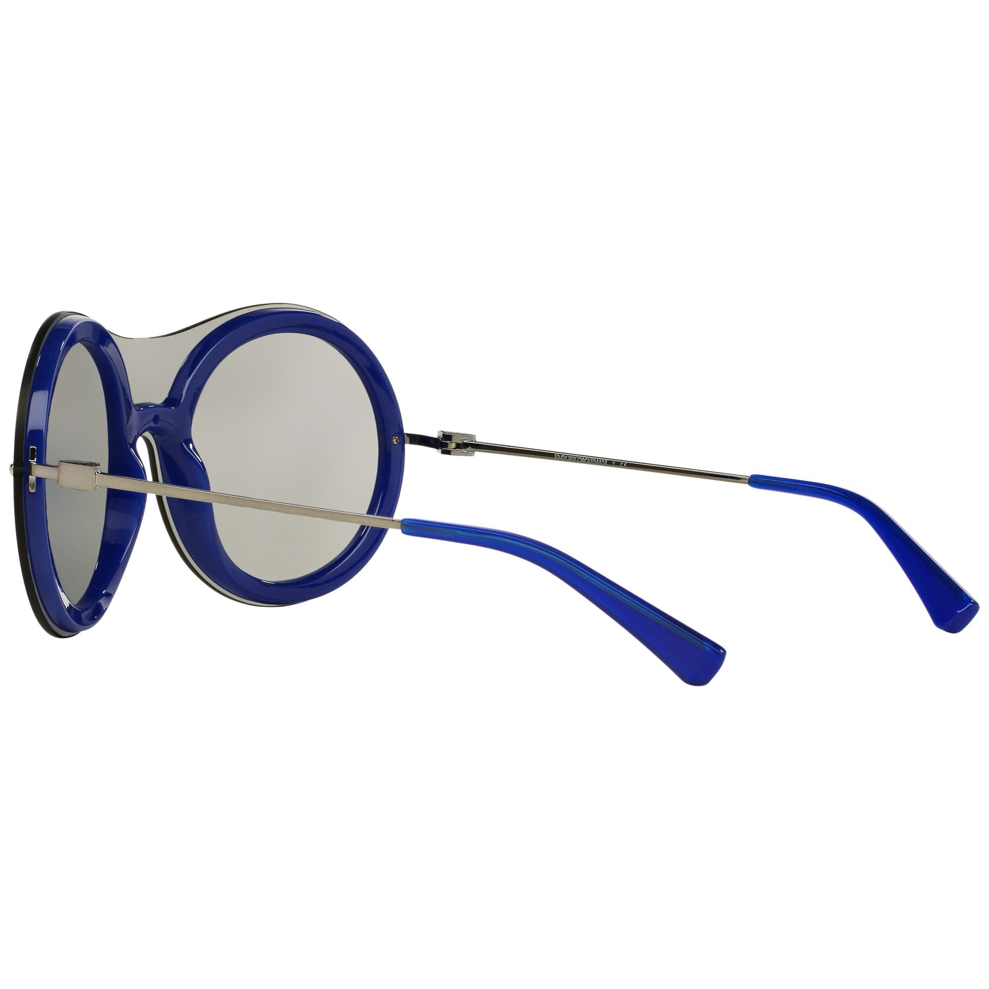 0c1bad57b76 Emporio Armani Ea4055 Round Framed Sunglasses in Gray - Lyst