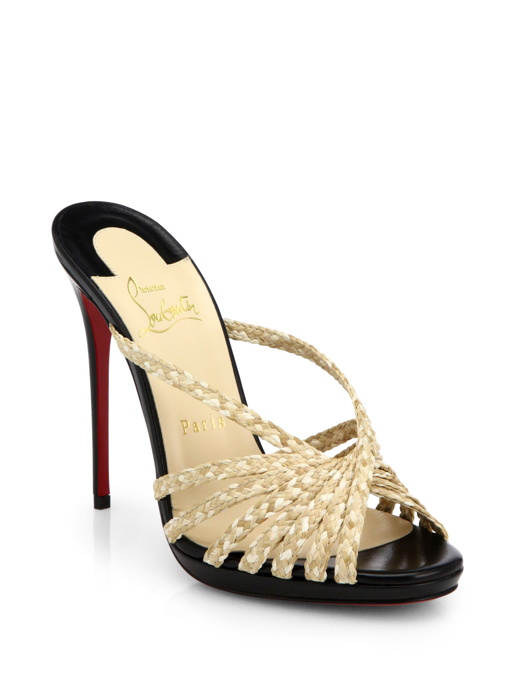 Christian Louboutin Patterned Leather Mules buy cheap fake caheEI