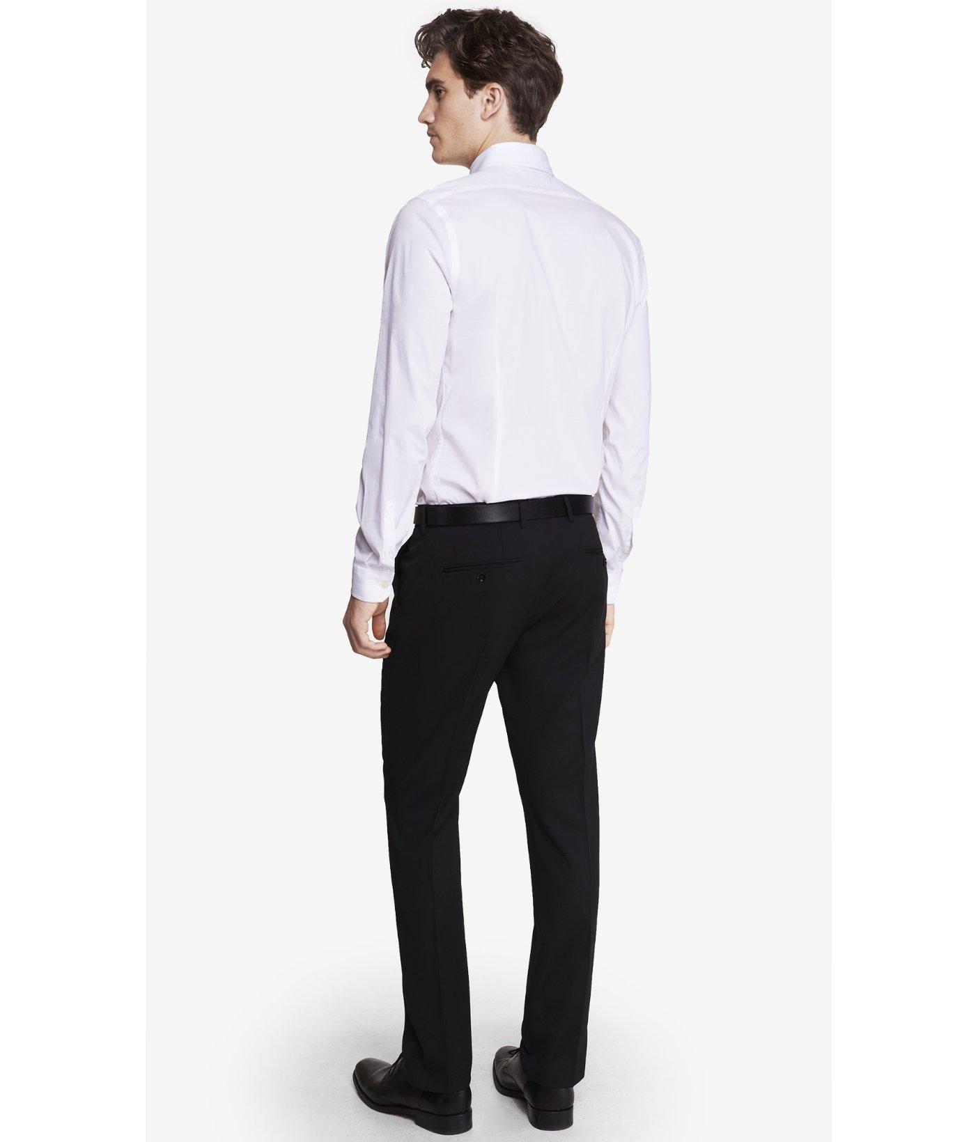 Express extra slim innovator black suit pant in black for for Extra slim tuxedo shirt