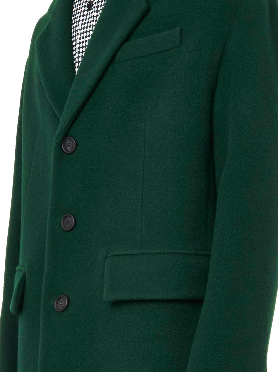 Burberry Prorsum Cashmere And Wool Tailored Coat In Green