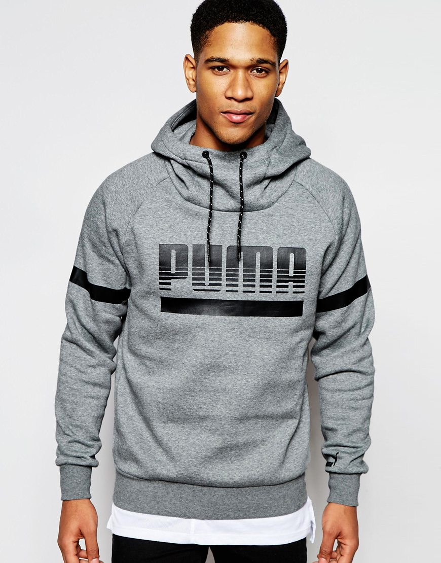 35bcf73f5688 Lyst - PUMA Graphic Hoodie in Gray for Men