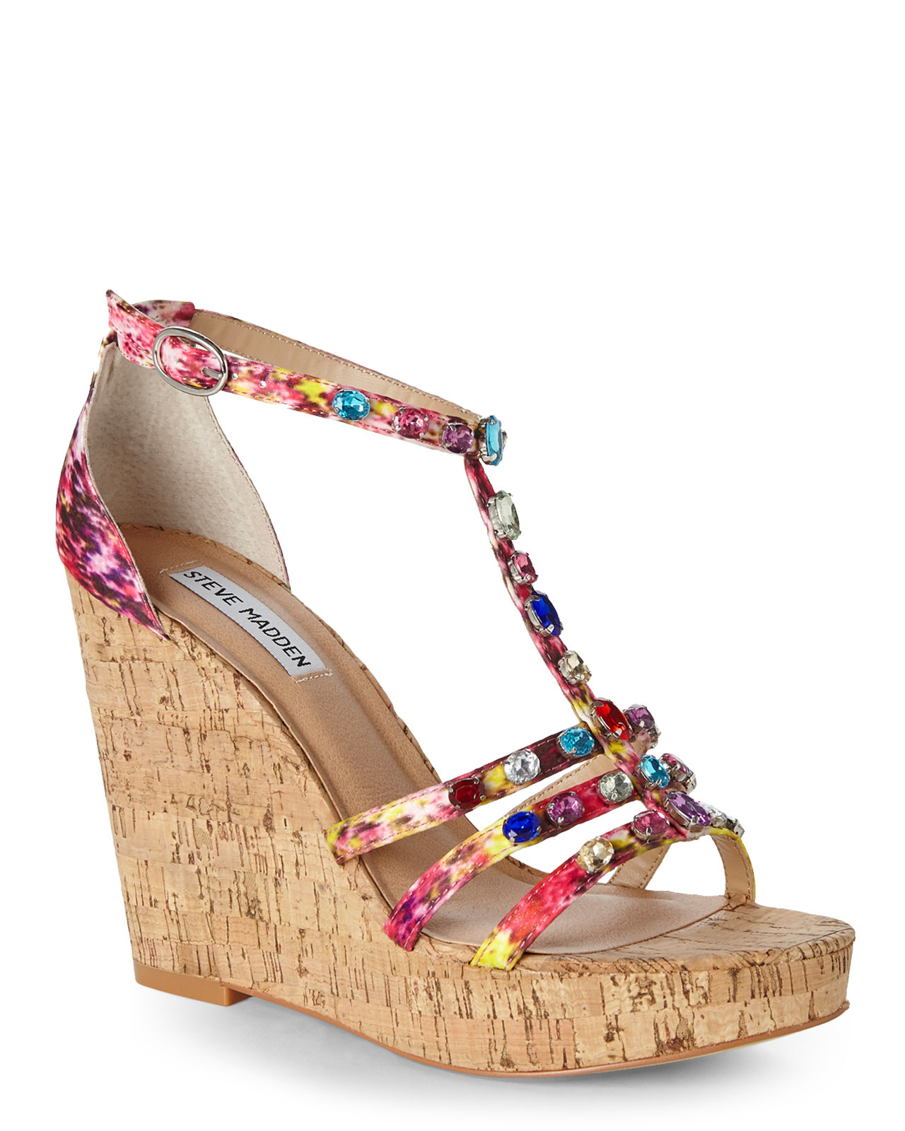 00a62fe21a0 Lyst - Steve Madden Multicolor Faara Wedge Sandals