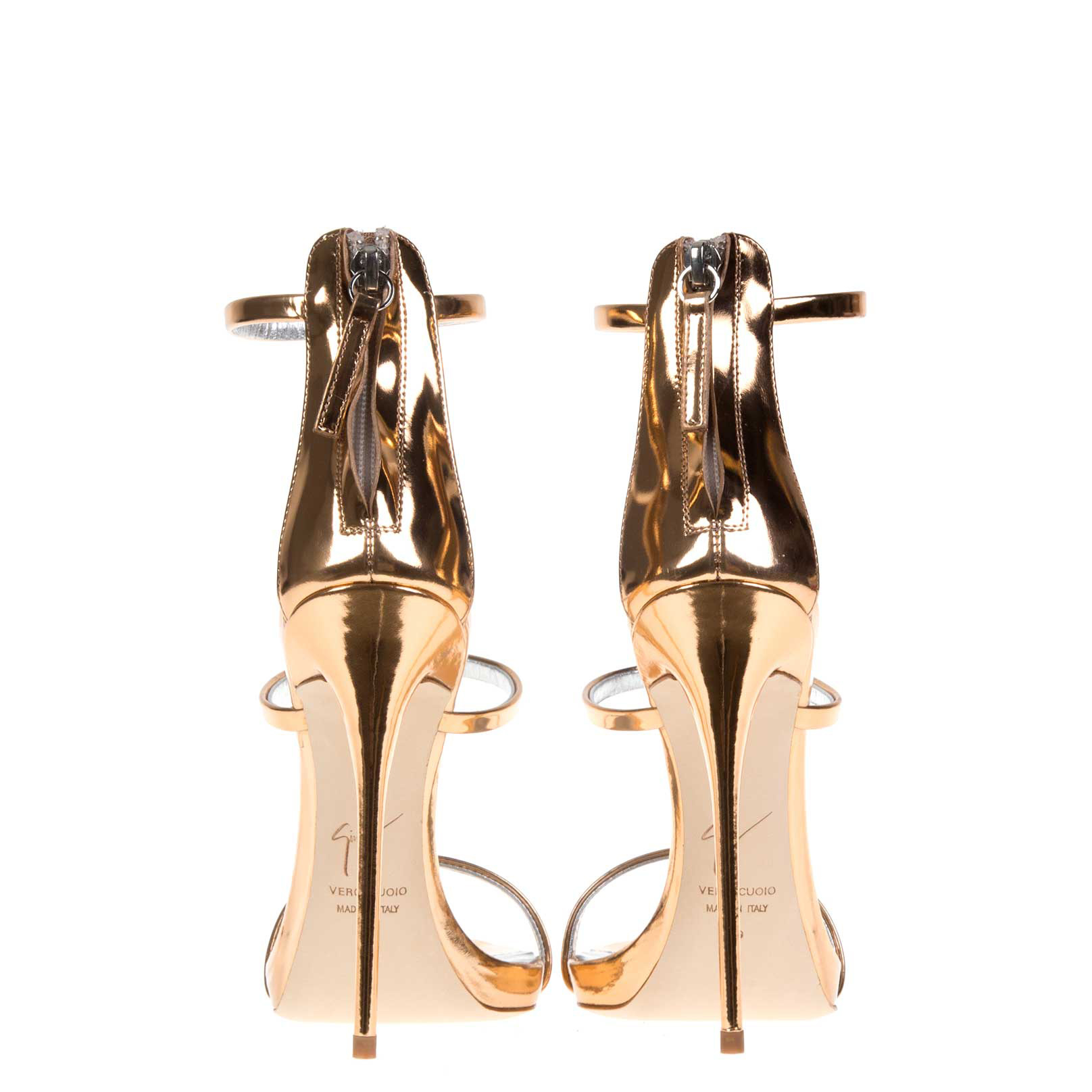 3f3084c41 ... where to buy giuseppe zanotti harmony metallic leather sandals in metallic  lyst c7215 8248b