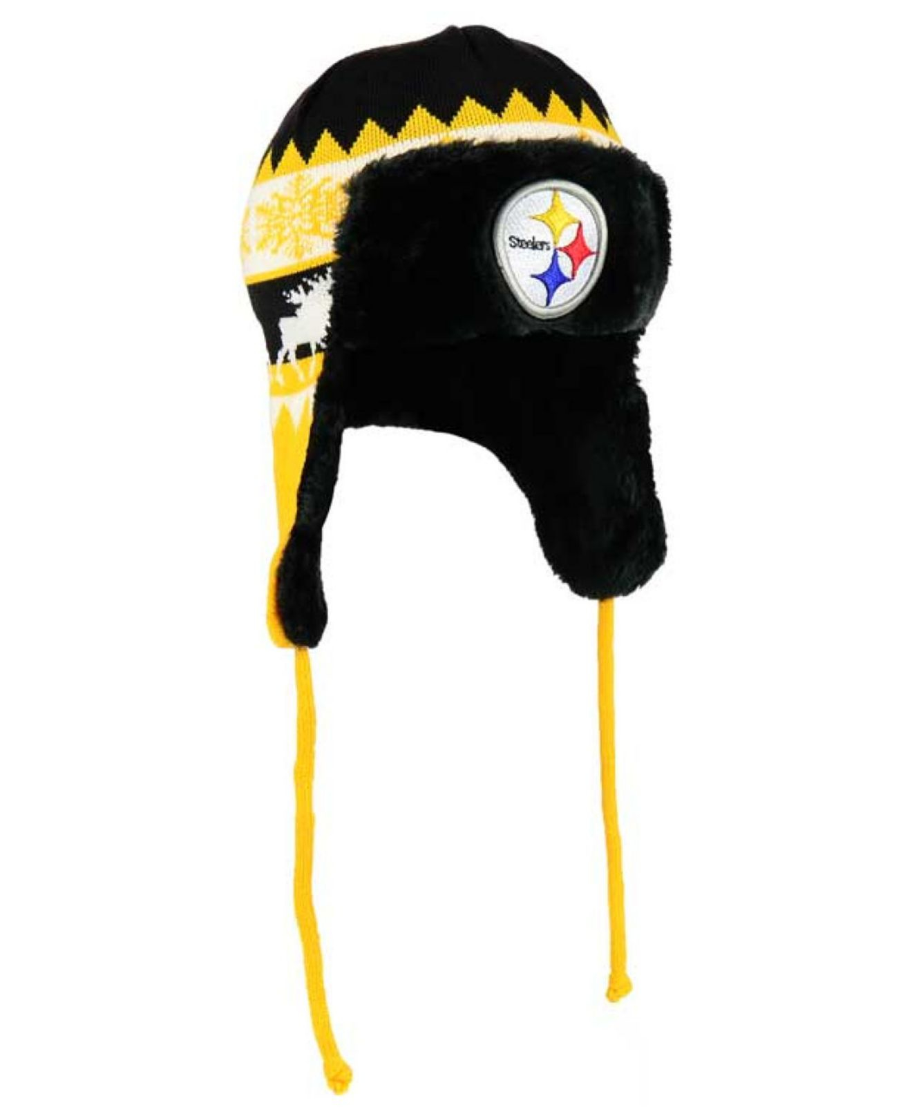 44f2b6bd8 Lyst - KTZ Pittsburgh Steelers Moose Trapper Knit Hat in Yellow for Men