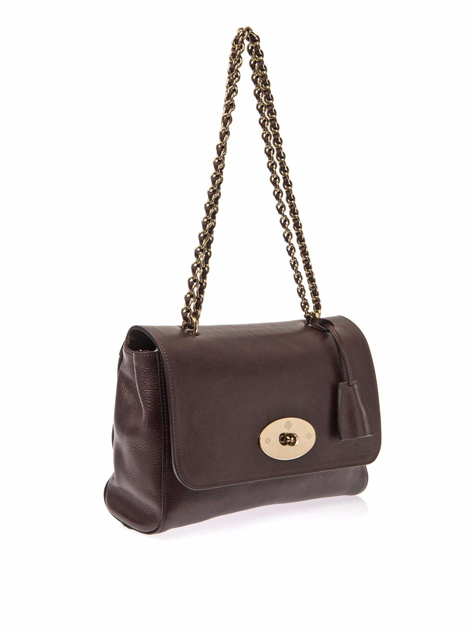 Mulberry Lily Medium Leather Shoulder Bag In Red Lyst
