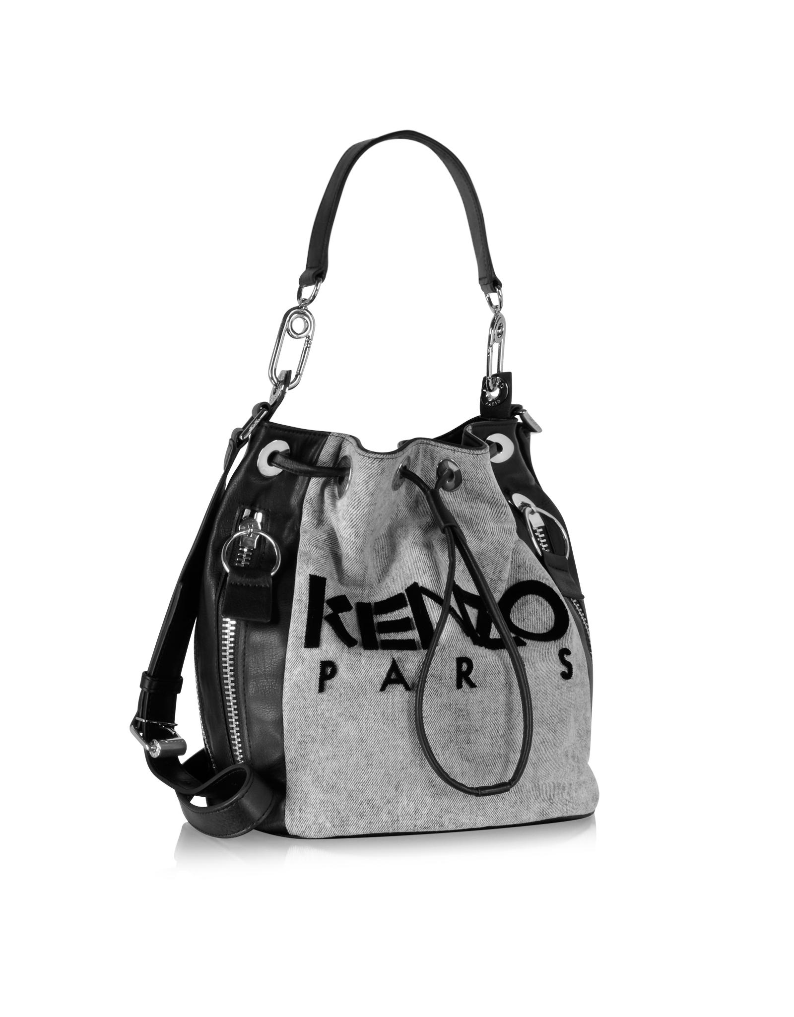 a875988558 KENZO Kanvas Bucket Bag in Black - Lyst
