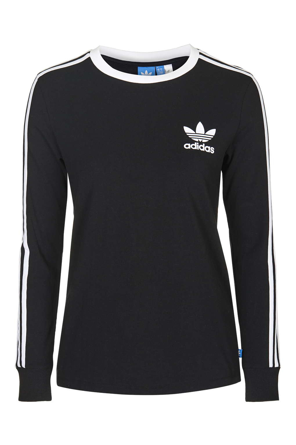 Topshop Three Stripe Long Sleeve Top Adidas Originals in Black  Lyst