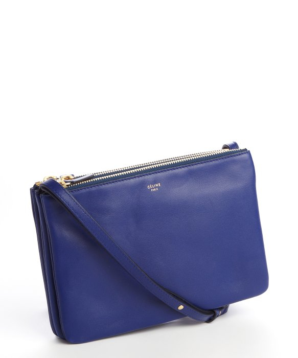 C��line Indigo Lambskin Trio Crossbody Bag in Blue (indigo) | Lyst