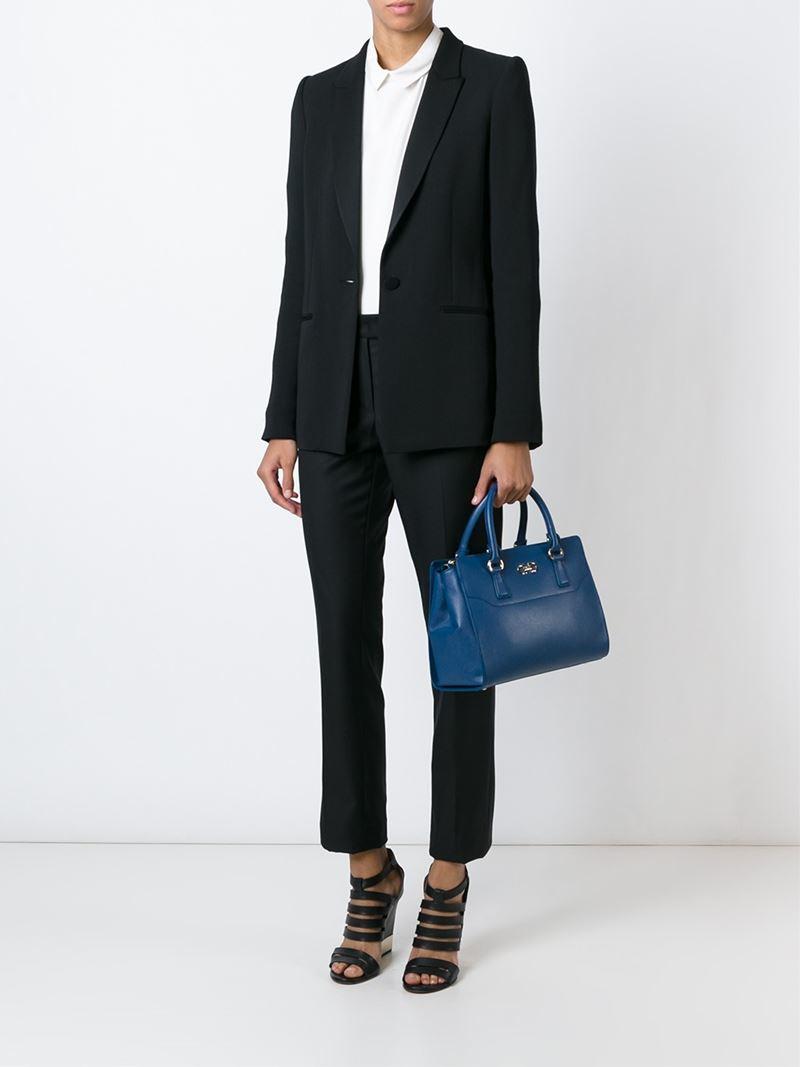 7c8e9c9abb8f super popular 97e06 143b0 Womens Shoulder Bags Hobos Salvatore Ferragamo  US  competitive price 478b5 2151d Lyst - Ferragamo beky Tote in Blue ...