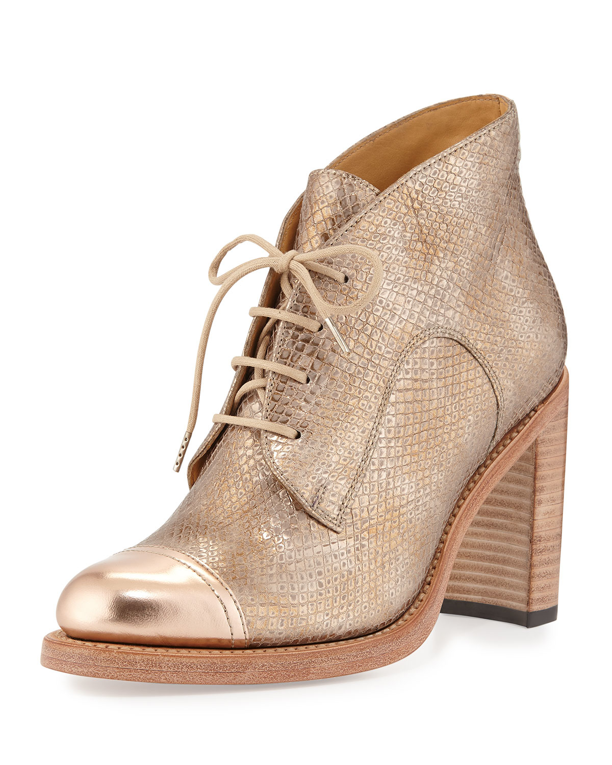The Office of Angela Scott Leather Round-Toe Booties discount 2014 KWmXCQN5P