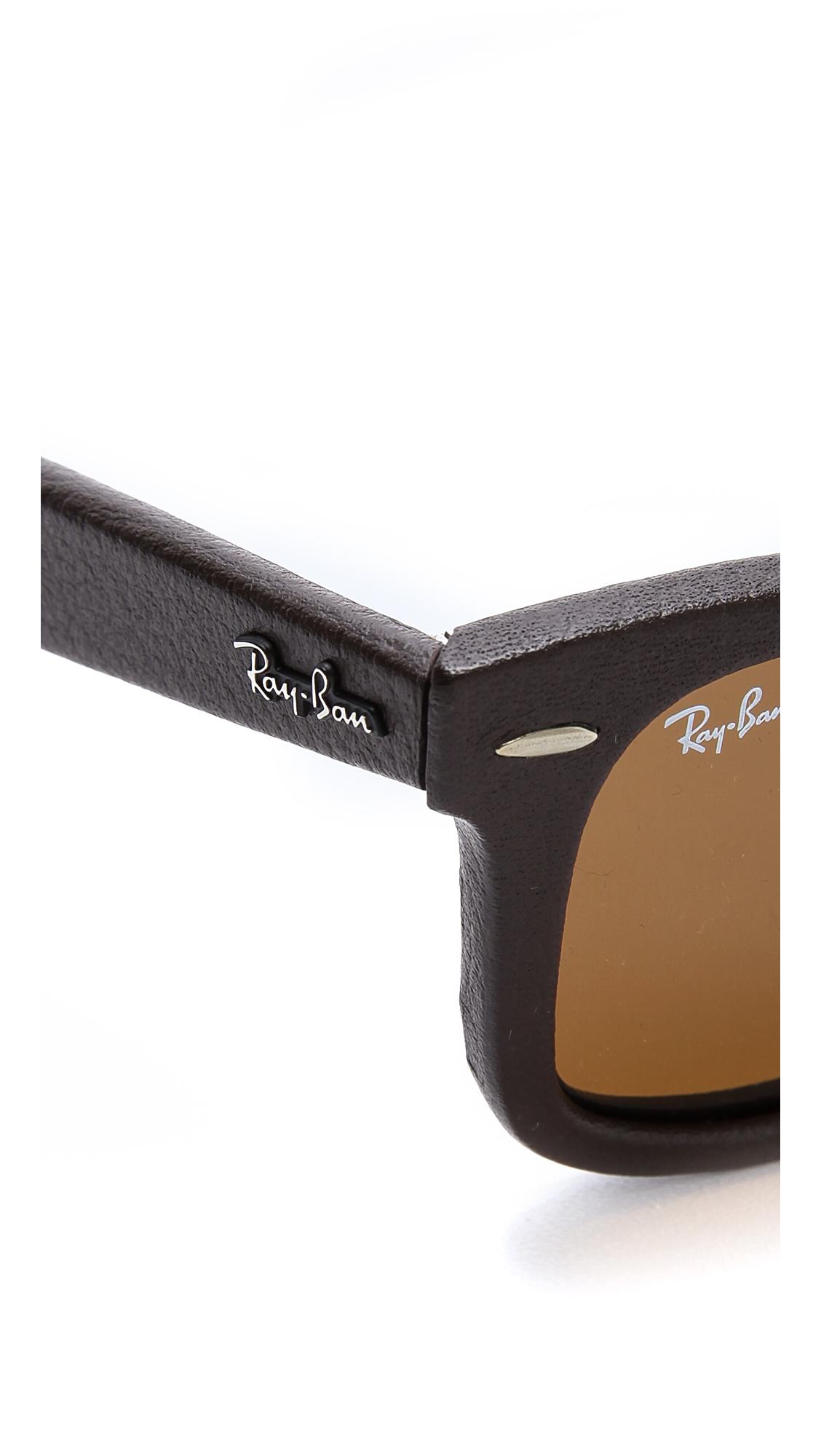 Polar 1 Sunglasses  ray ban polar wayfarer sunglasses in brown lyst