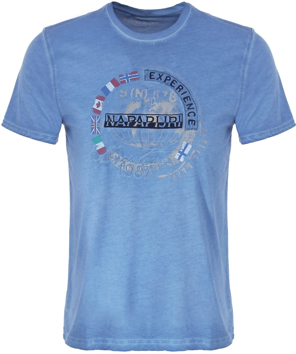 napapijri sharold t shirt in blue for men lyst. Black Bedroom Furniture Sets. Home Design Ideas