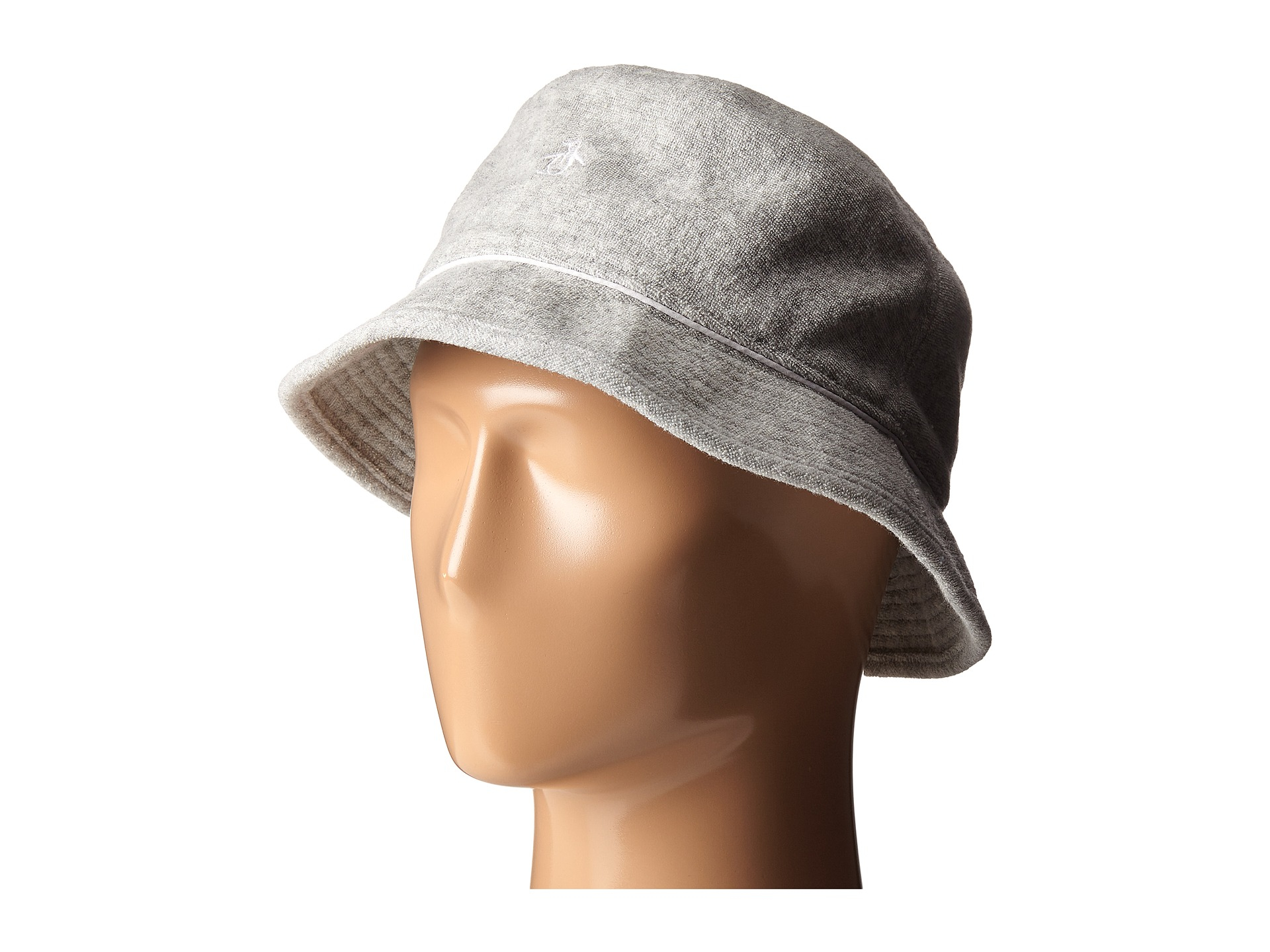 Lyst - Original Penguin Terry Cloth Bucket Hat in Gray for Men d5f5adccb