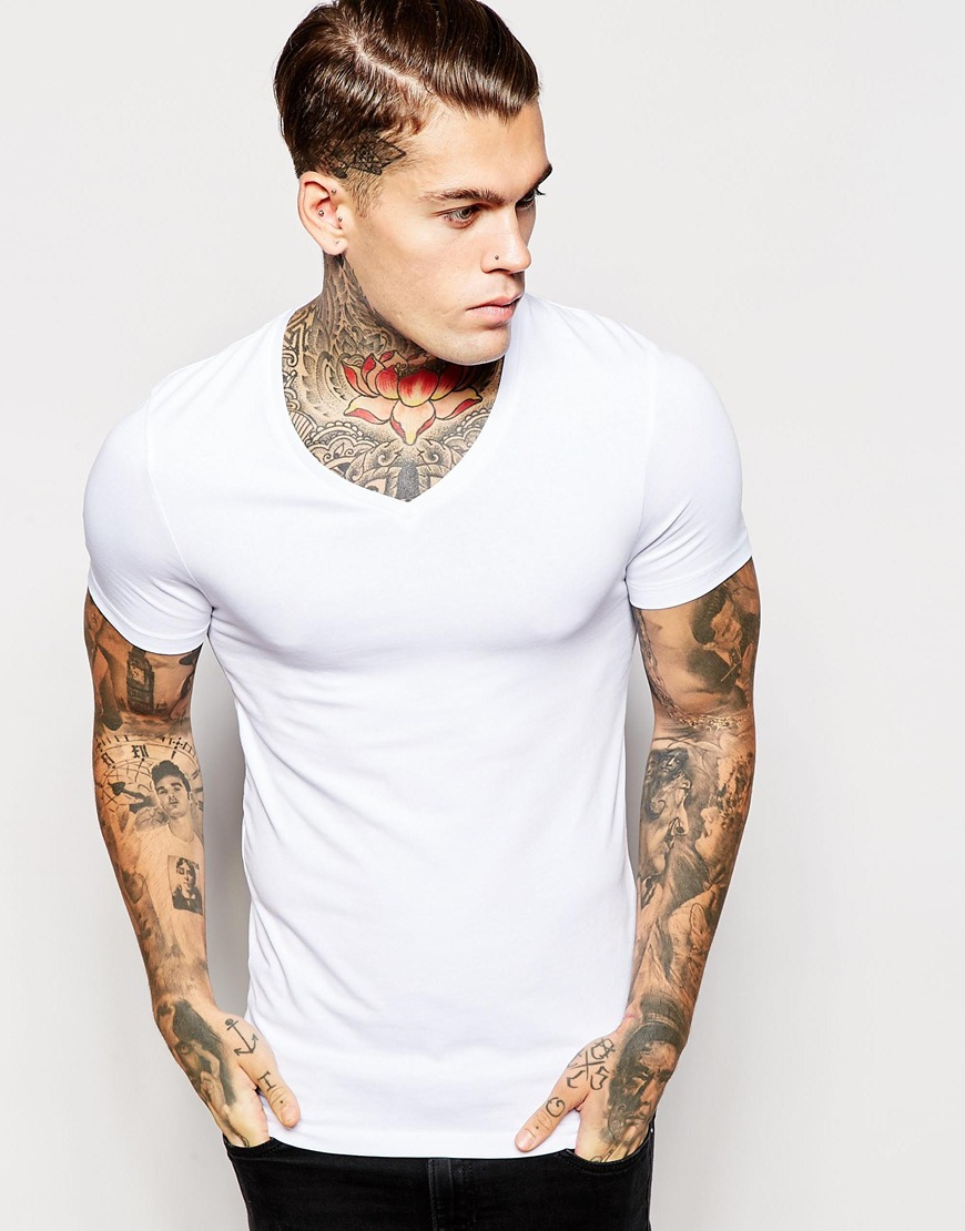 078677ed8810 Fitted V Neck T Shirts For Mens - DREAMWORKS