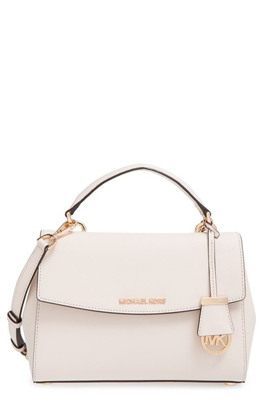 2d87ce21c1250 Lyst - MICHAEL Michael Kors  small Ava  Saffiano Leather Satchel in ...