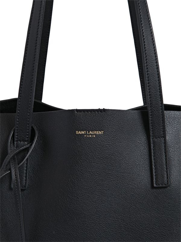 Saint laurent Soft Leather Tote Bag in Black | Lyst