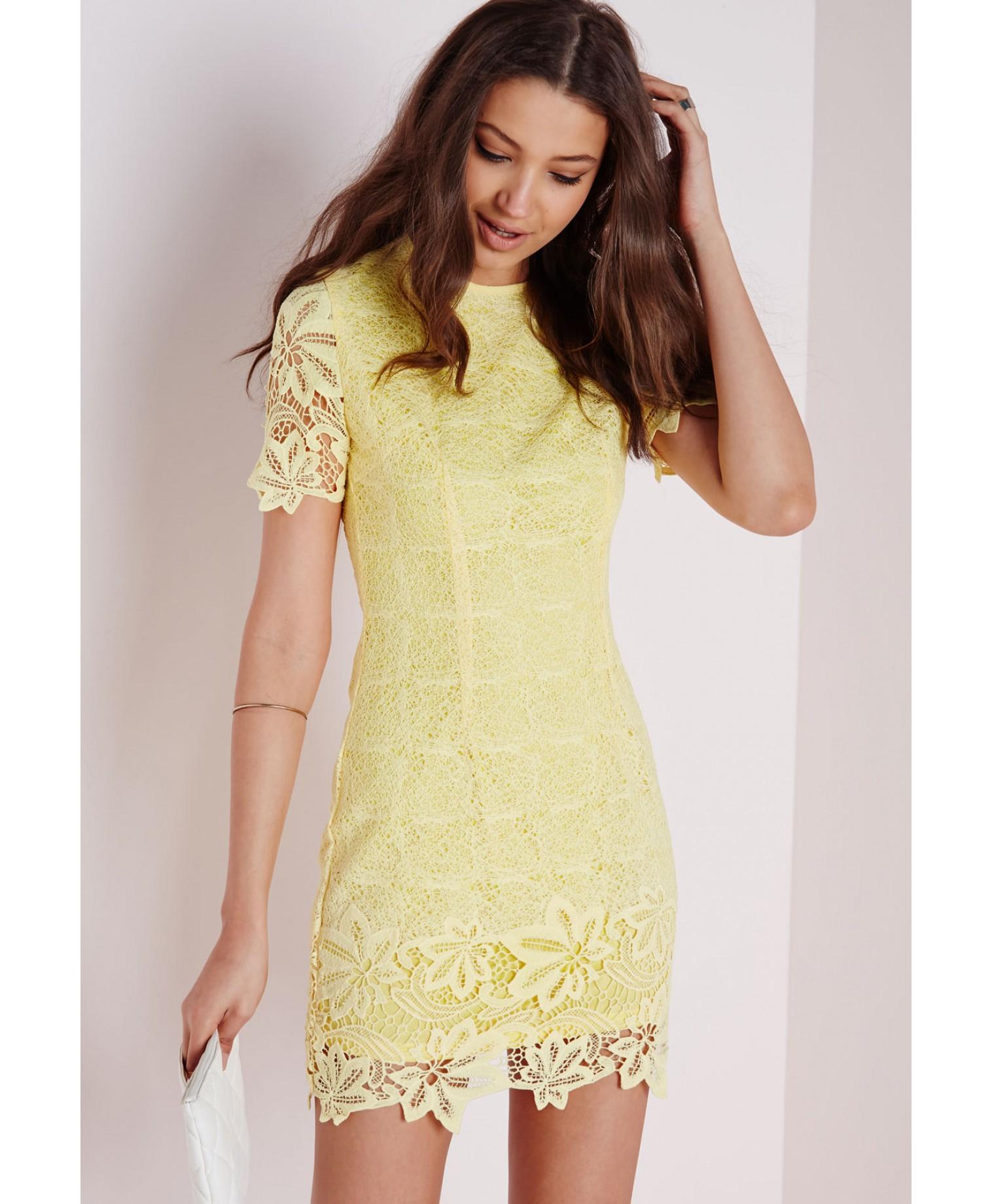 Debenhams with yellow bodycon dress uk charleston