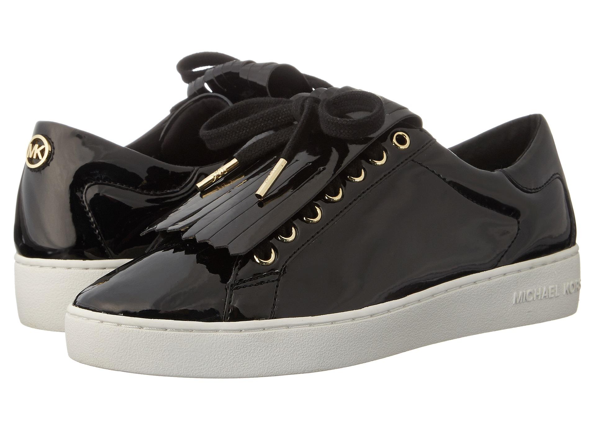 michael michael kors keaton kiltie sneaker in black lyst. Black Bedroom Furniture Sets. Home Design Ideas