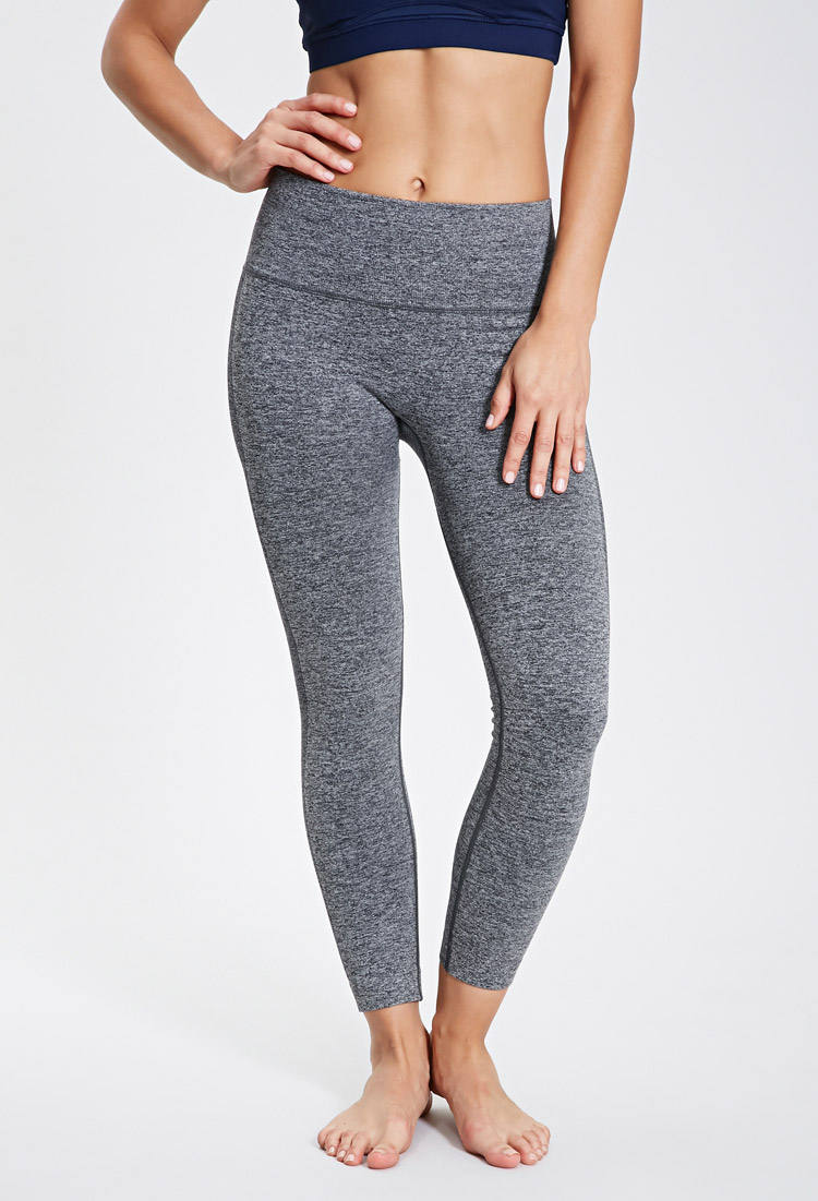 accfe6b7cda91 Forever 21 Active Heathered Seamless Workout Leggings in Gray - Lyst