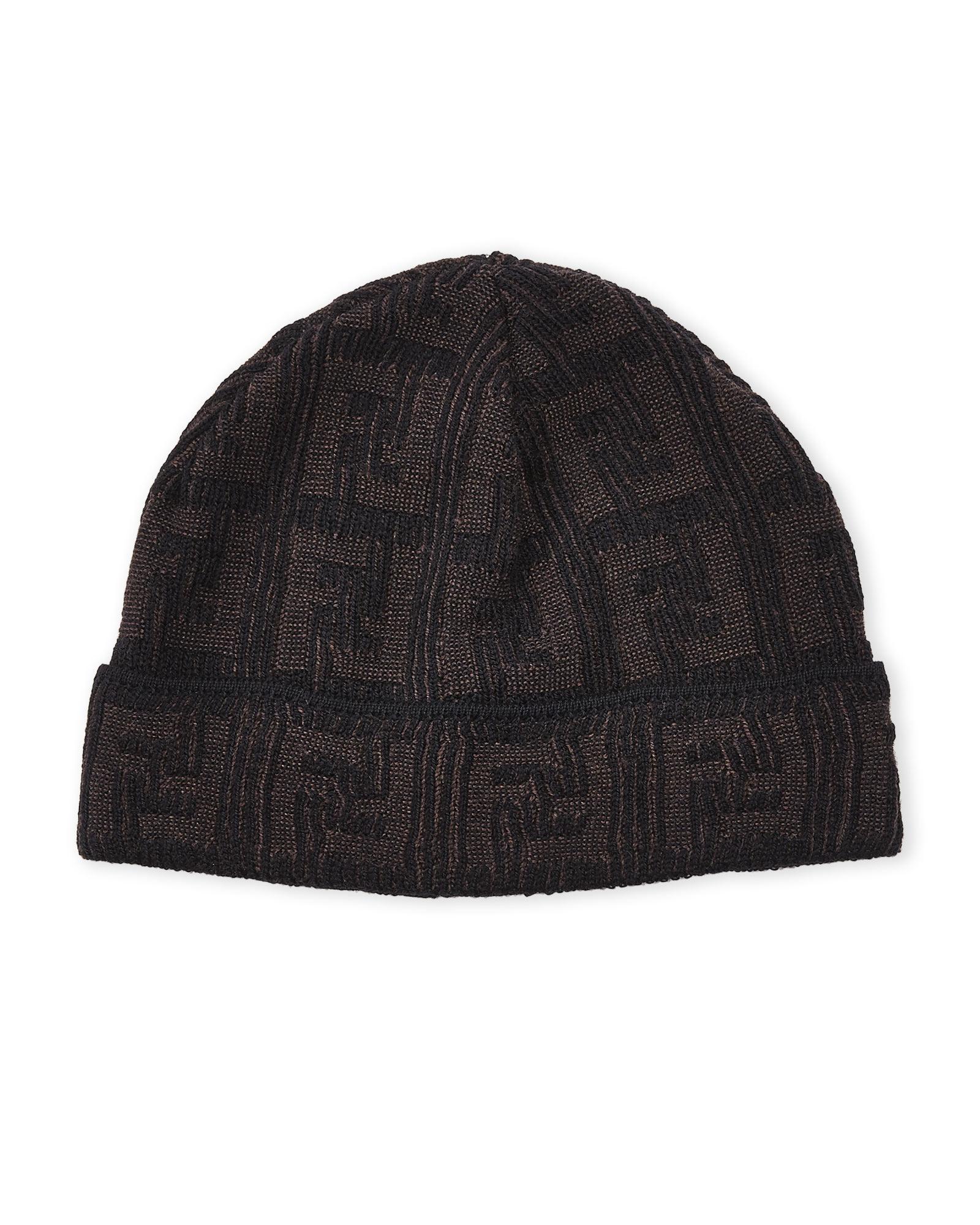 eca0ff033d7 Lyst - Fendi Zucca Wool Beanie in Brown for Men