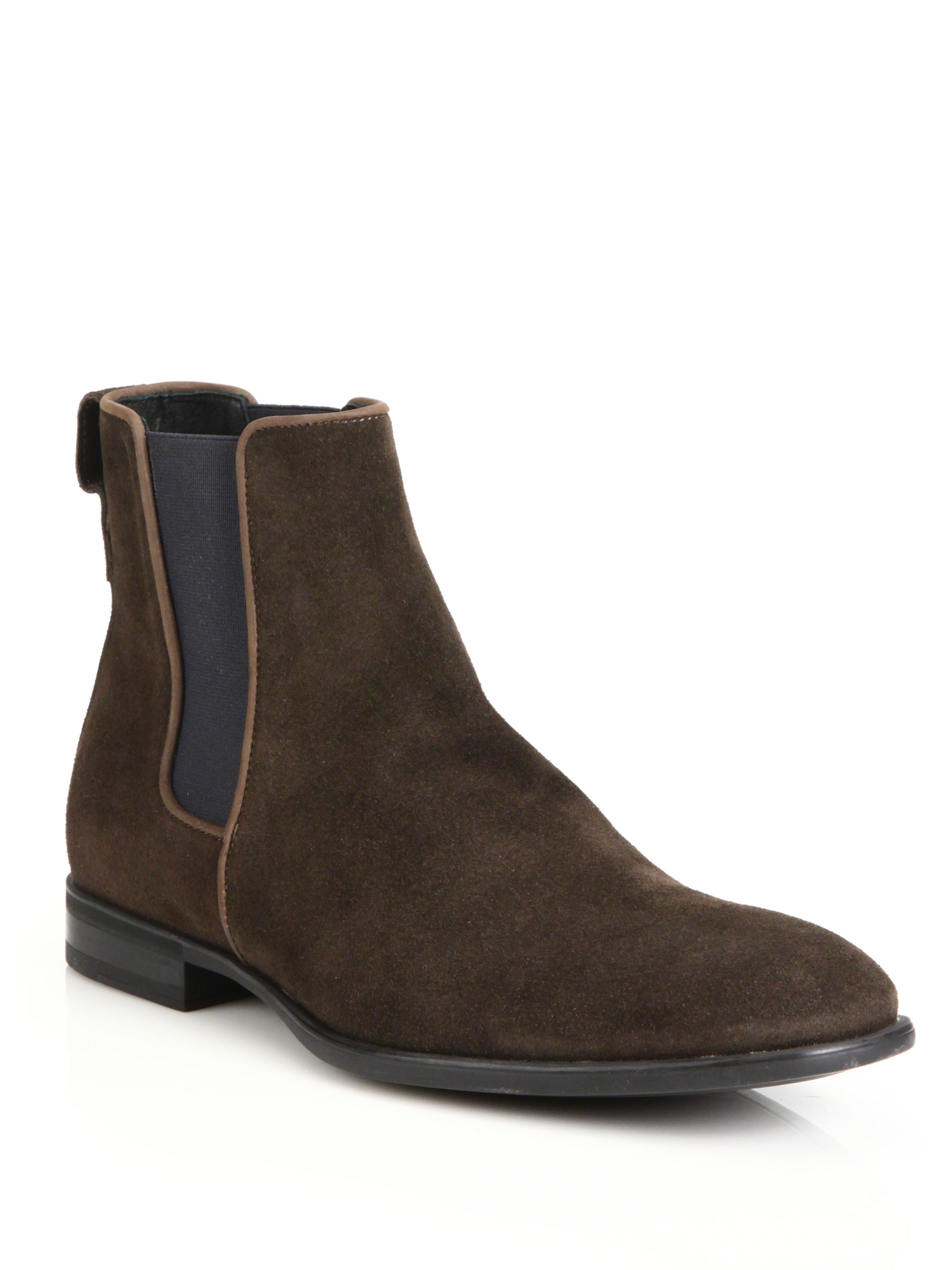 aquatalia by marvin k adrian suede chelsea boots in brown