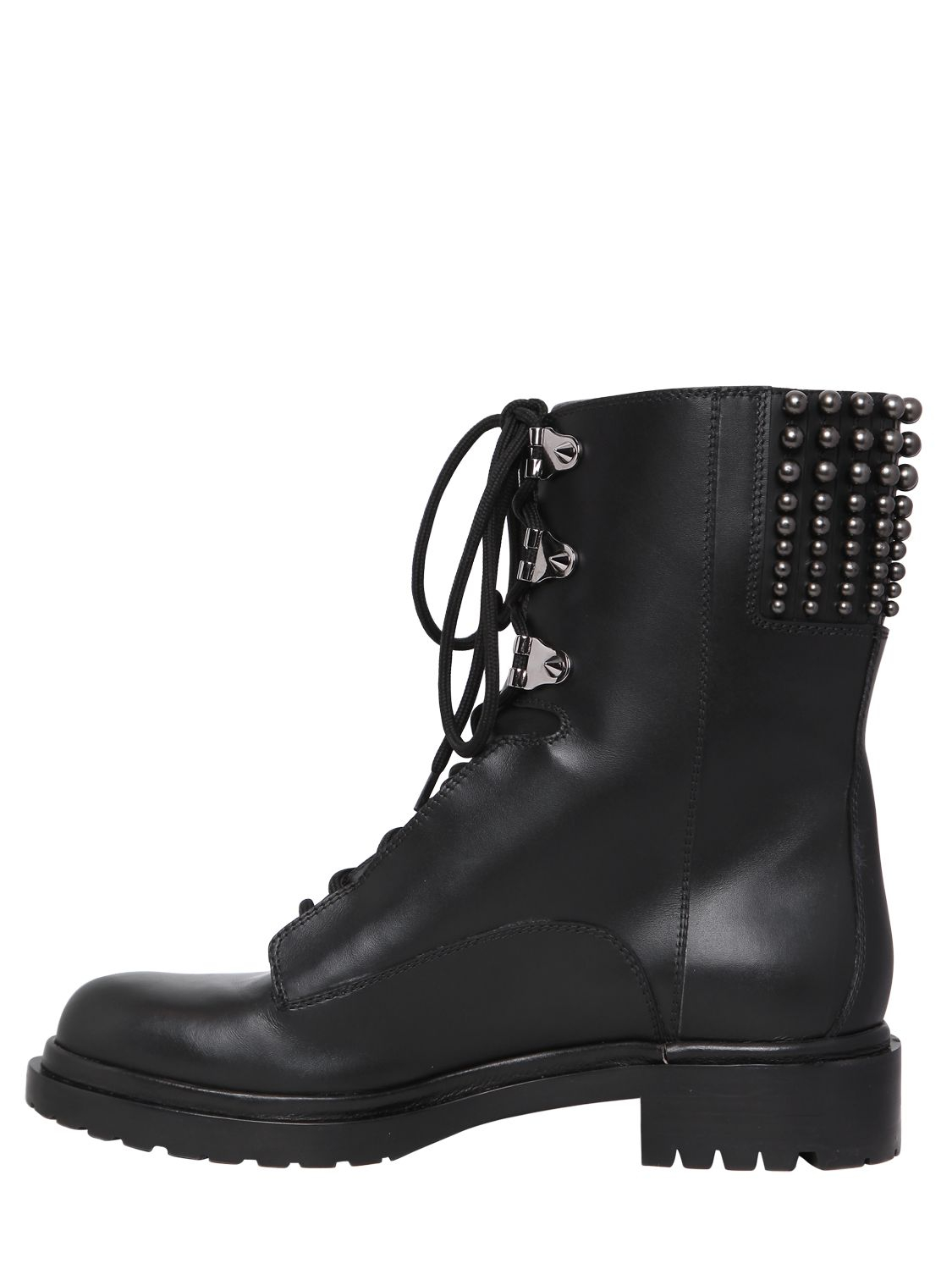 Lyst Sergio Rossi 30mm Rockstar Leather Combat Boots In