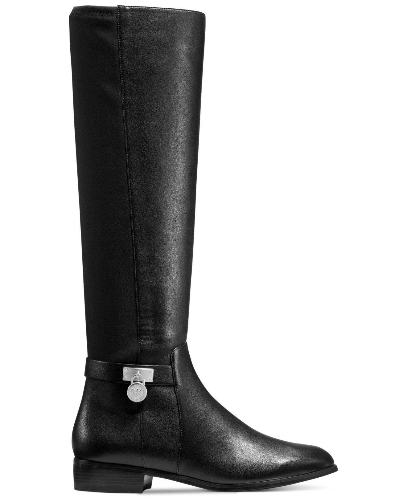 michael kors hamilton 50 50 boots in black lyst. Black Bedroom Furniture Sets. Home Design Ideas