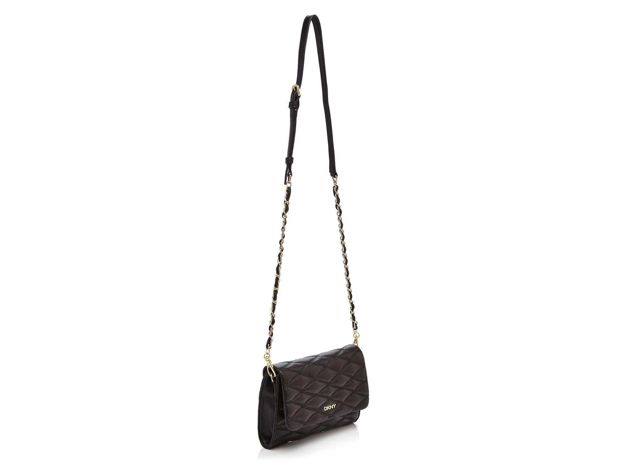 Lyst - Dkny Gansevoort Quilted Nappa Small Flap Crossbody in Black : dkny black quilted purse - Adamdwight.com