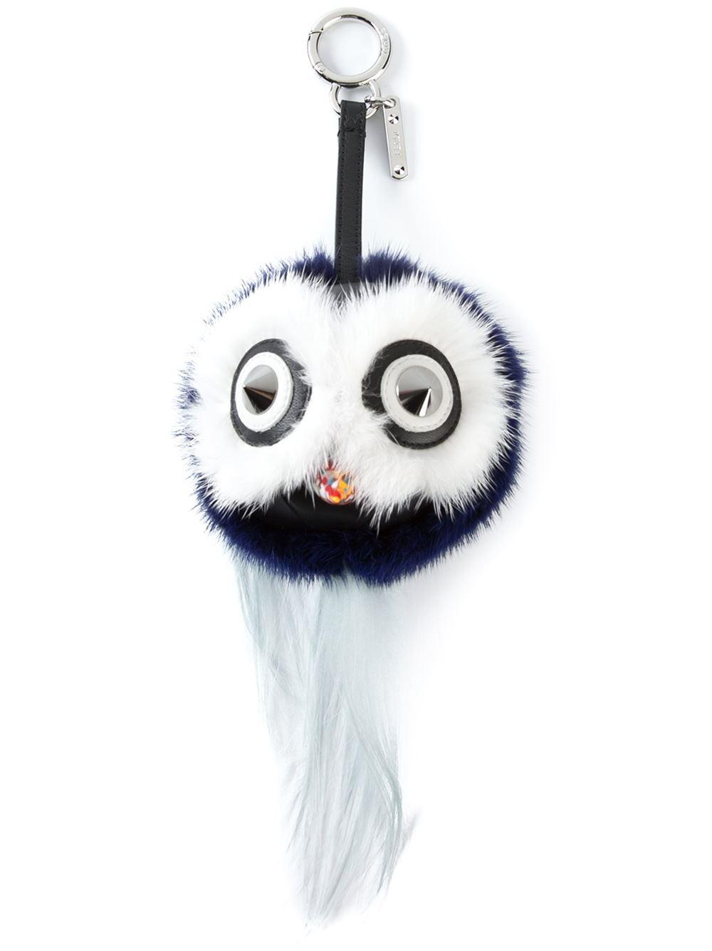 Fendi mini Bag Bugs charm - Blue QvuiNA0