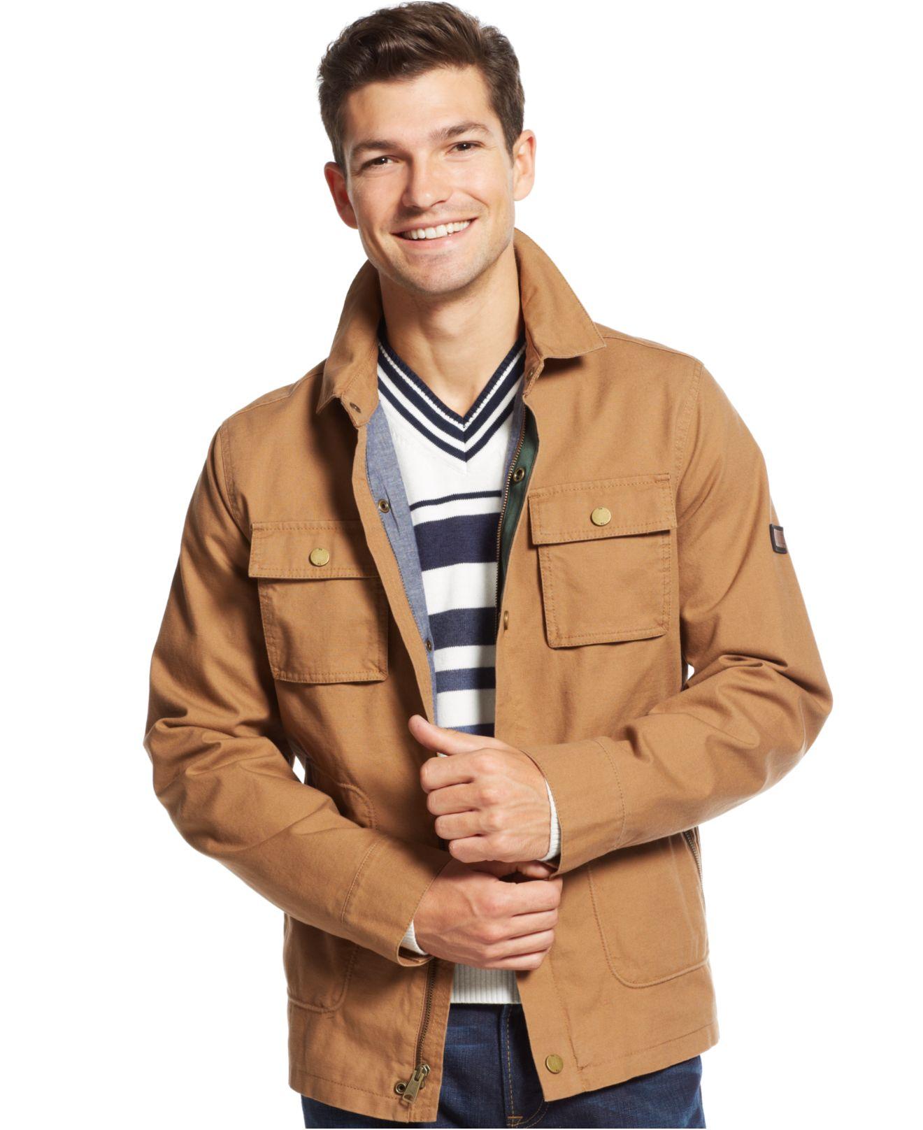 tommy hilfiger flint jacket in brown for men lyst. Black Bedroom Furniture Sets. Home Design Ideas