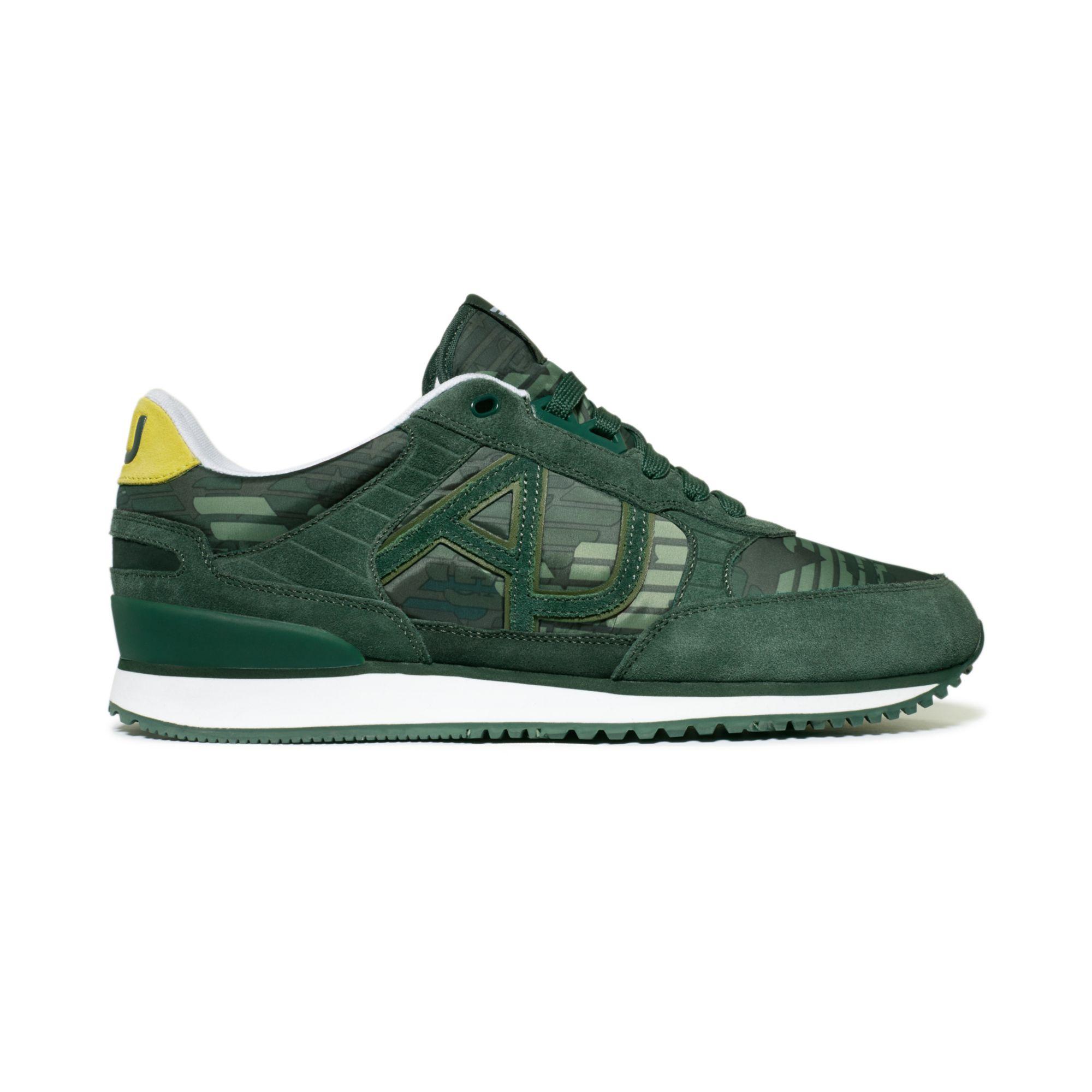 Armani Jeans Logo Nylon Sneakers in Green for Men