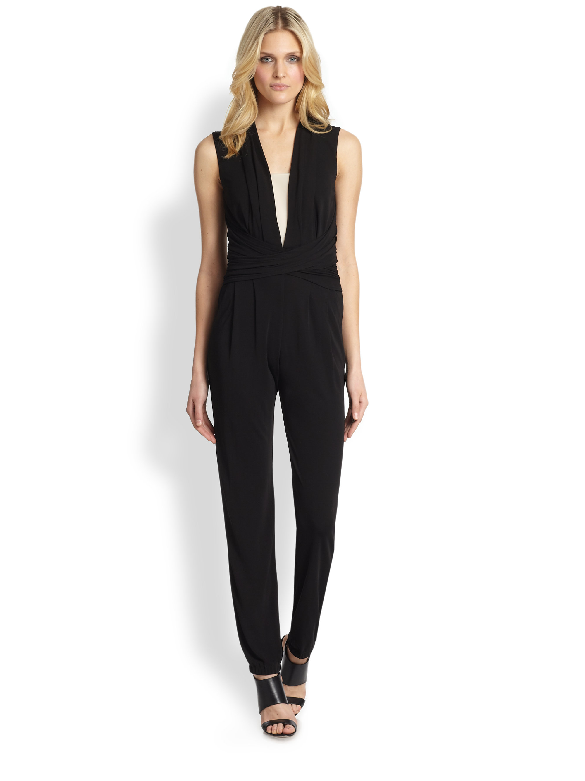 a1029c5bb6d Lyst - Elie Tahari Hudson Silk Jumpsuit in Black