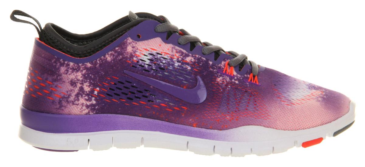 Nike Free Tr Fit 4 Purple Venom Laser Crimson Print