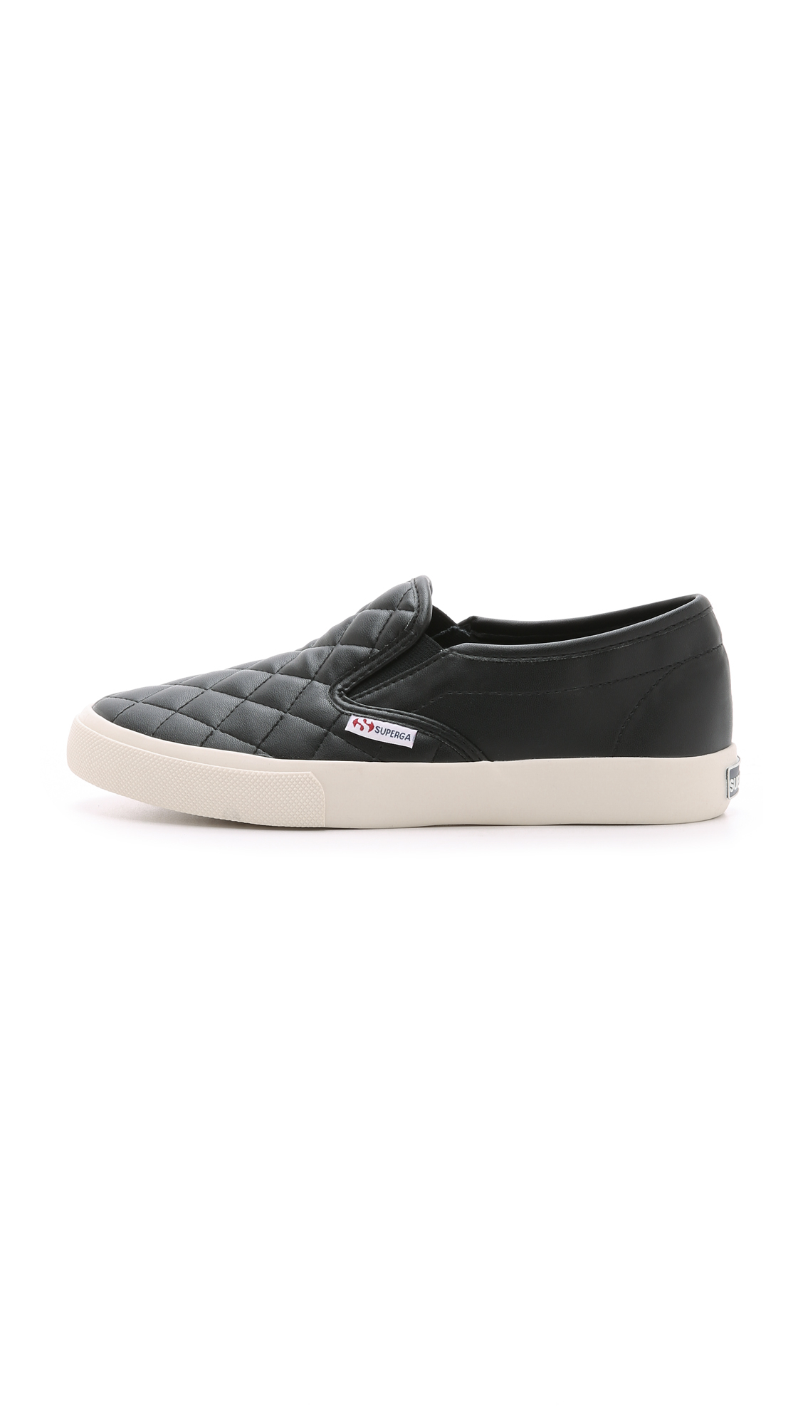 Superga 2311 Quilted Slip On Snakers White In Black Lyst