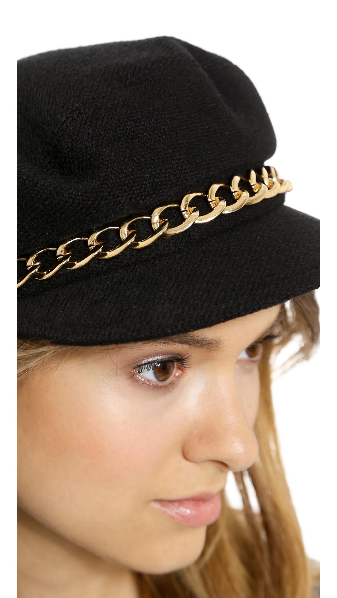 6e63e0be90f7c Eugenia Kim Marina Hat - Black in Black - Lyst