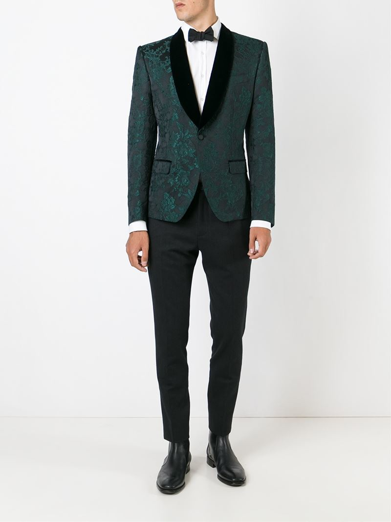 Lyst dolce gabbana embroidered floral lace tuxedo