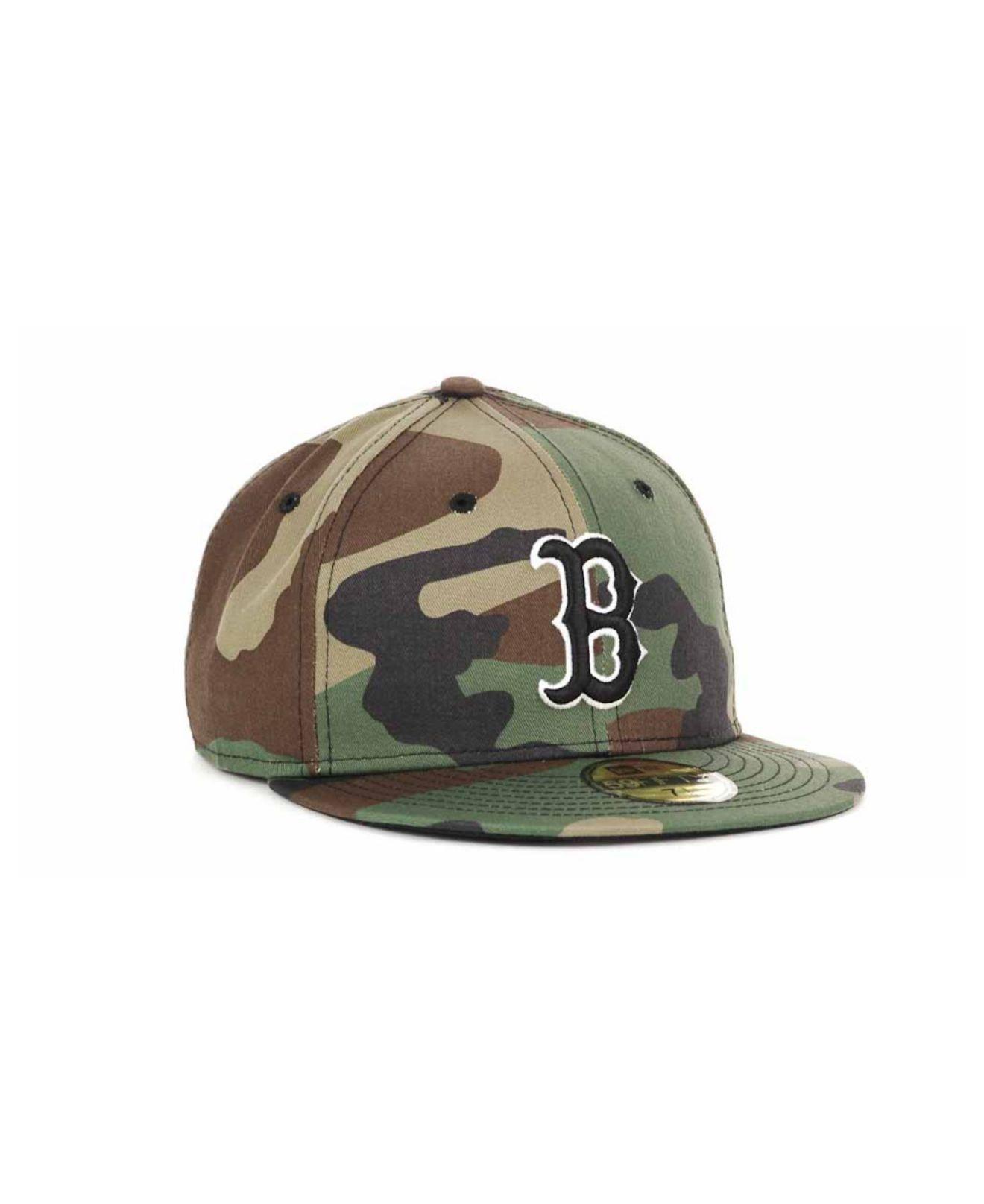 Lyst - KTZ Boston Red Sox Bc Camo 59fifty Cap in Green for Men d895419c7d5