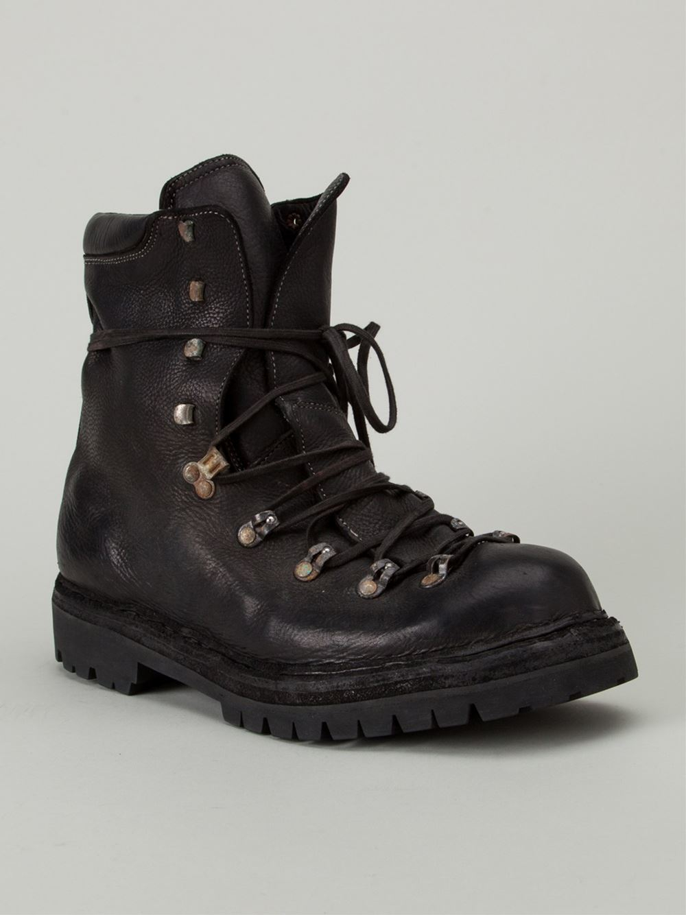 Guidi Distressed Hiking Boots In Black For Men Lyst