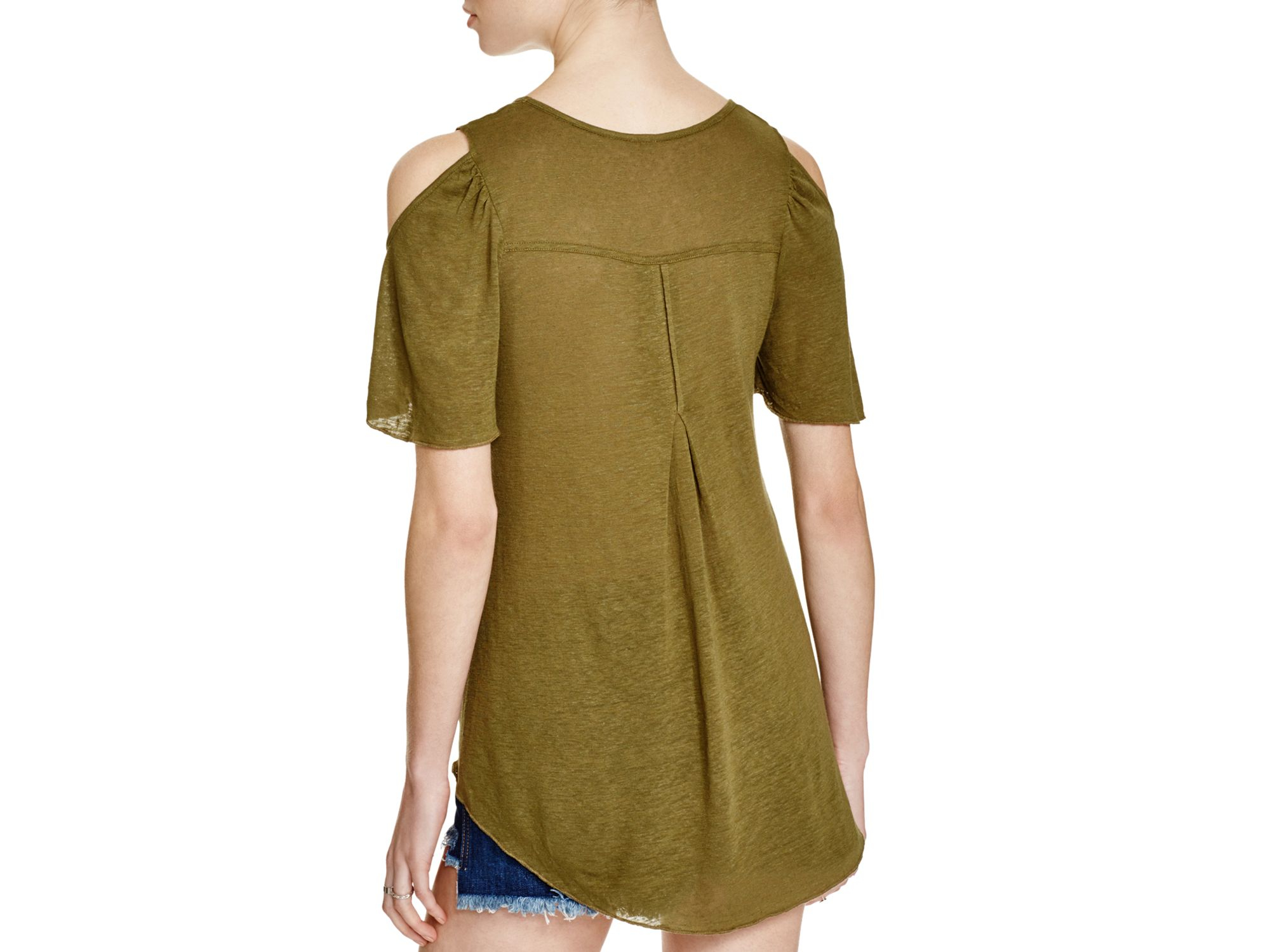 336a32c135200 Gallery. Previously sold at  Bloomingdale s · Women s Cold Shoulder T Shirts  ...