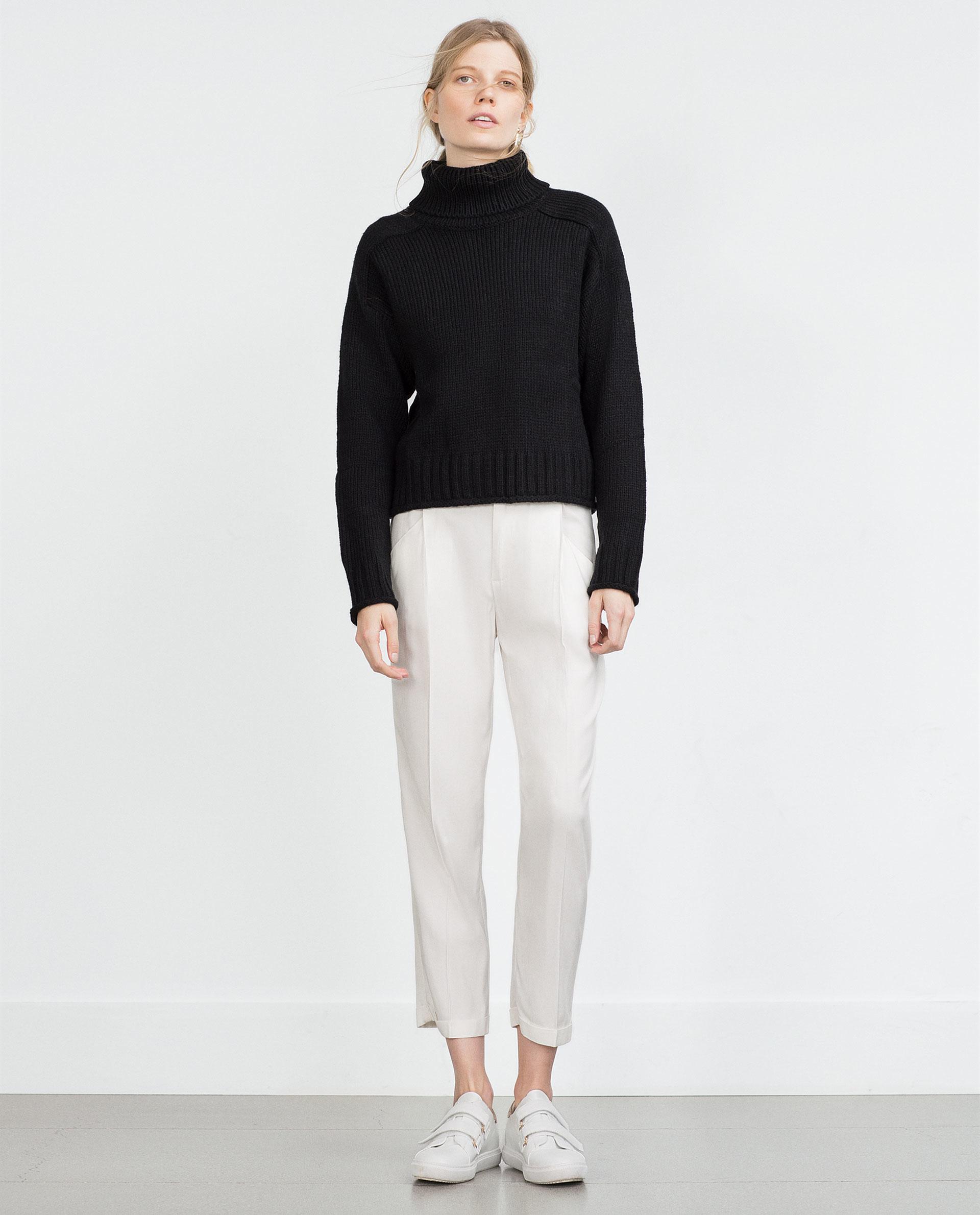 Zara Black High Neck Sweater 75