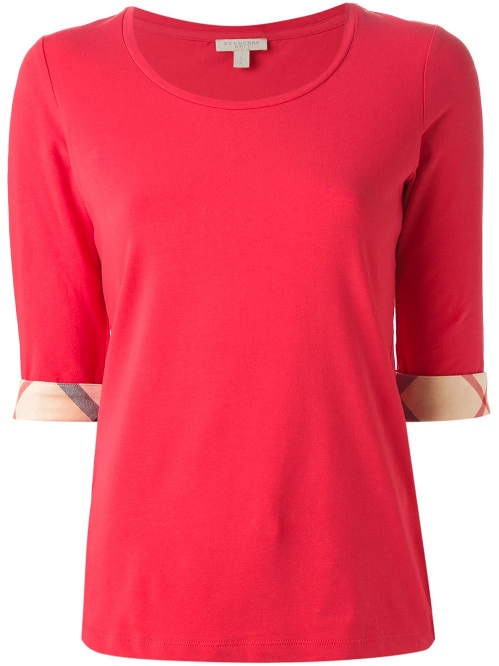 Lyst Burberry Brit Three Quarter Length T Shirt In Pink