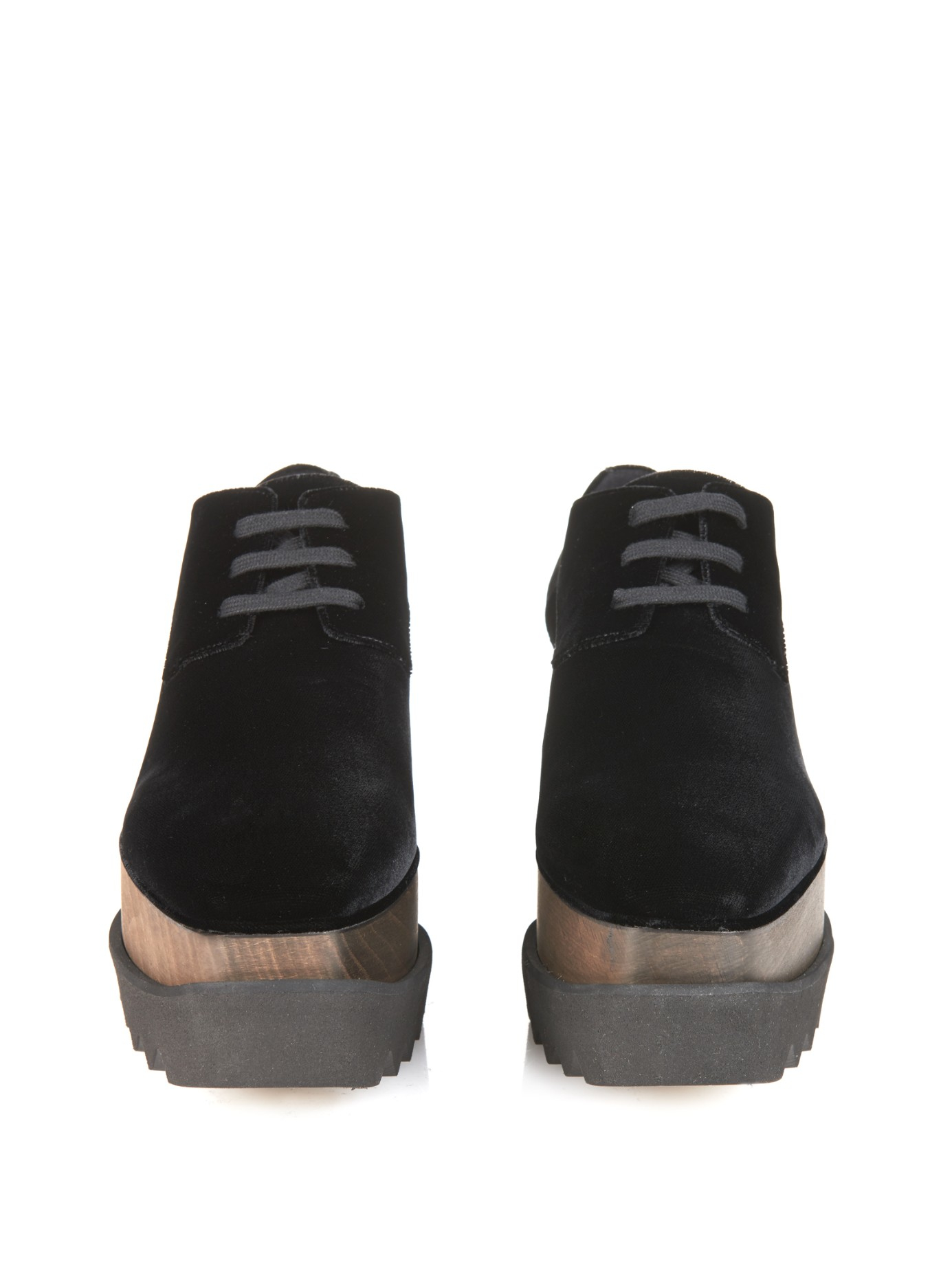 Stella Mccartney Chaussures Plate-forme Lacets - Noir crbZoIH4