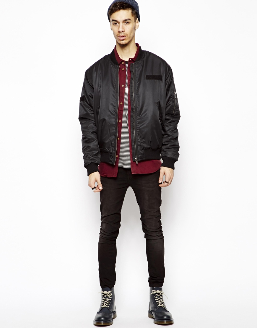Cheap monday Bomber Jacket in Black for Men | Lyst