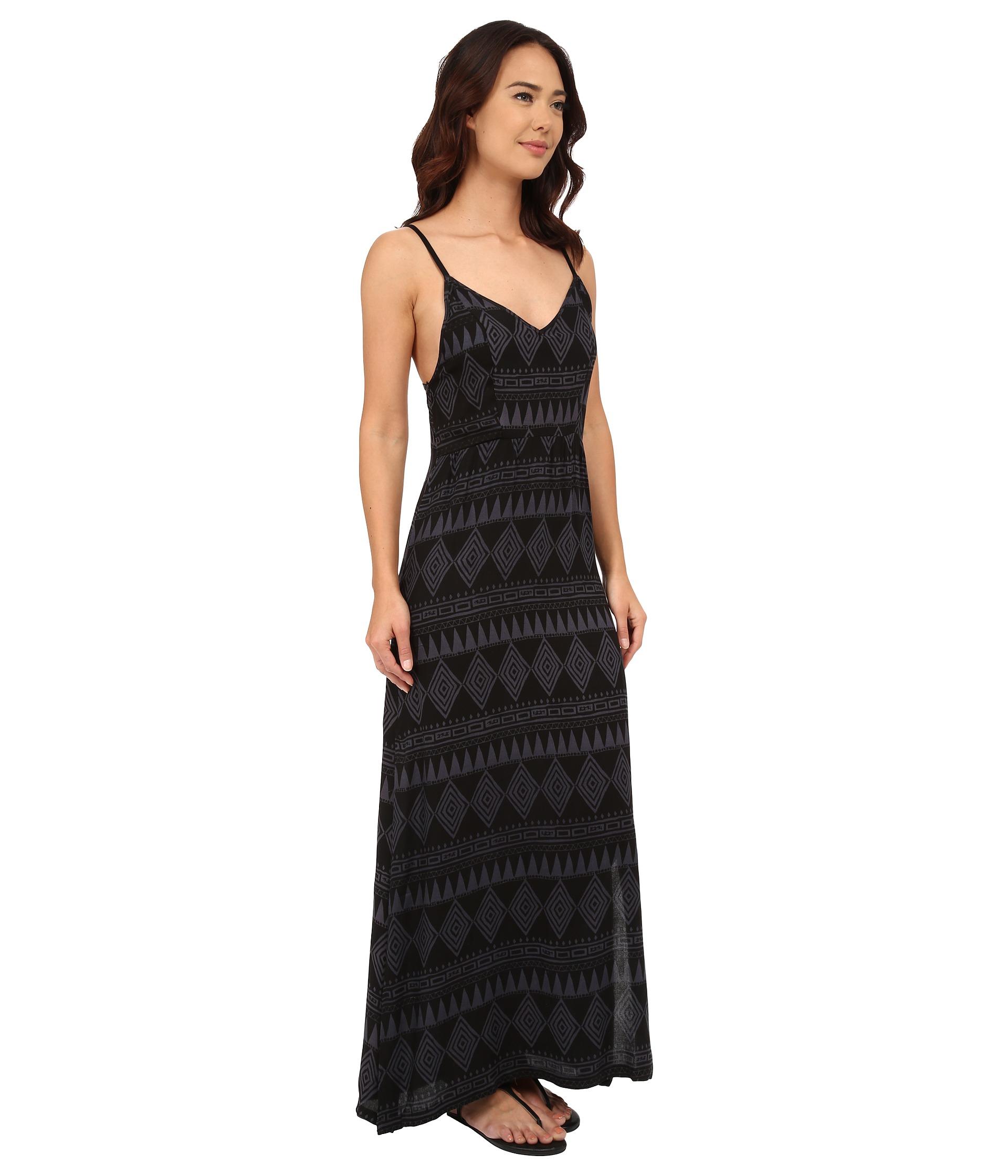 Hurley Silvina Maxi Dress in Black - Lyst