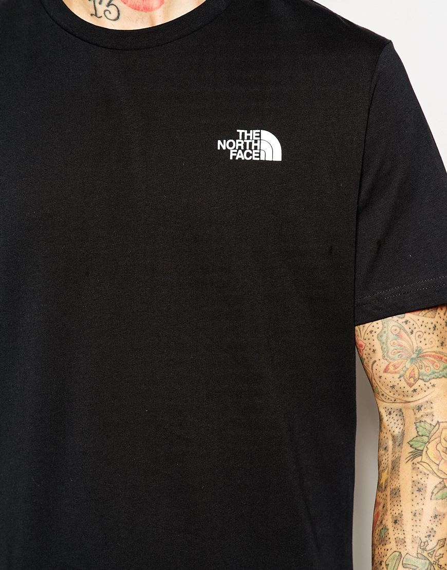 Lyst - The North Face T-shirt With Red Box Logo in Black for Men 50285c77860c