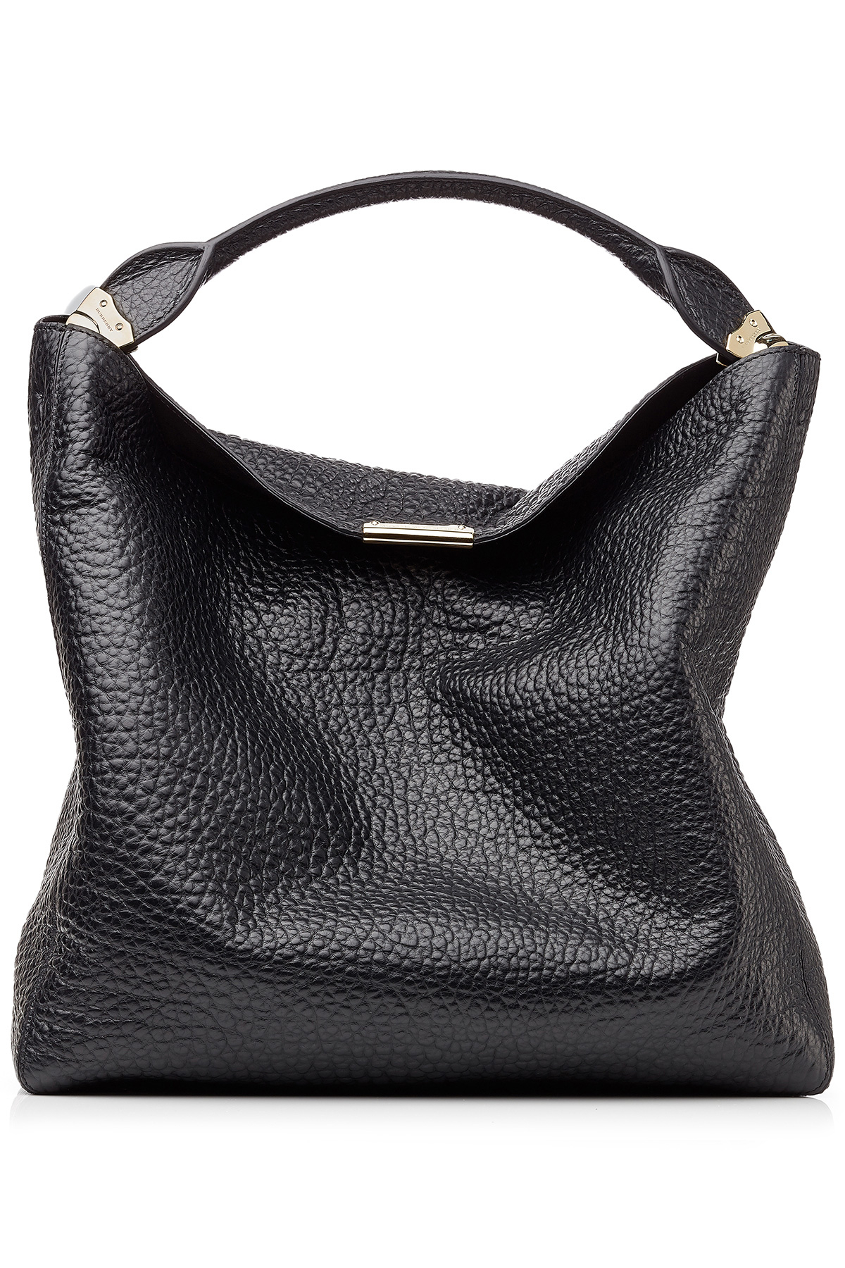 81c1da37b6d9 Lyst - Burberry Lindburn Embossed Leather Hobo Bag - Black in Black