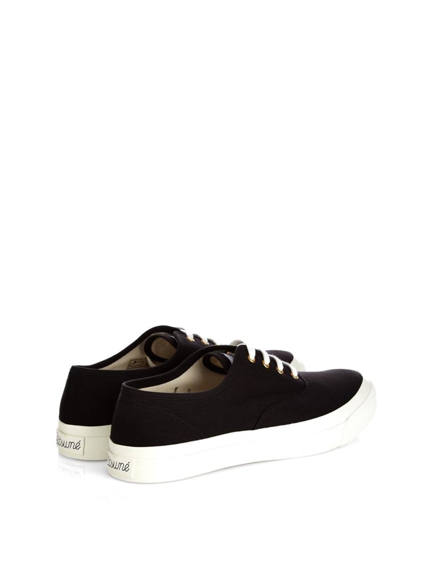 Black Laced Sneakers Maison Kitsun Krt5Sz1