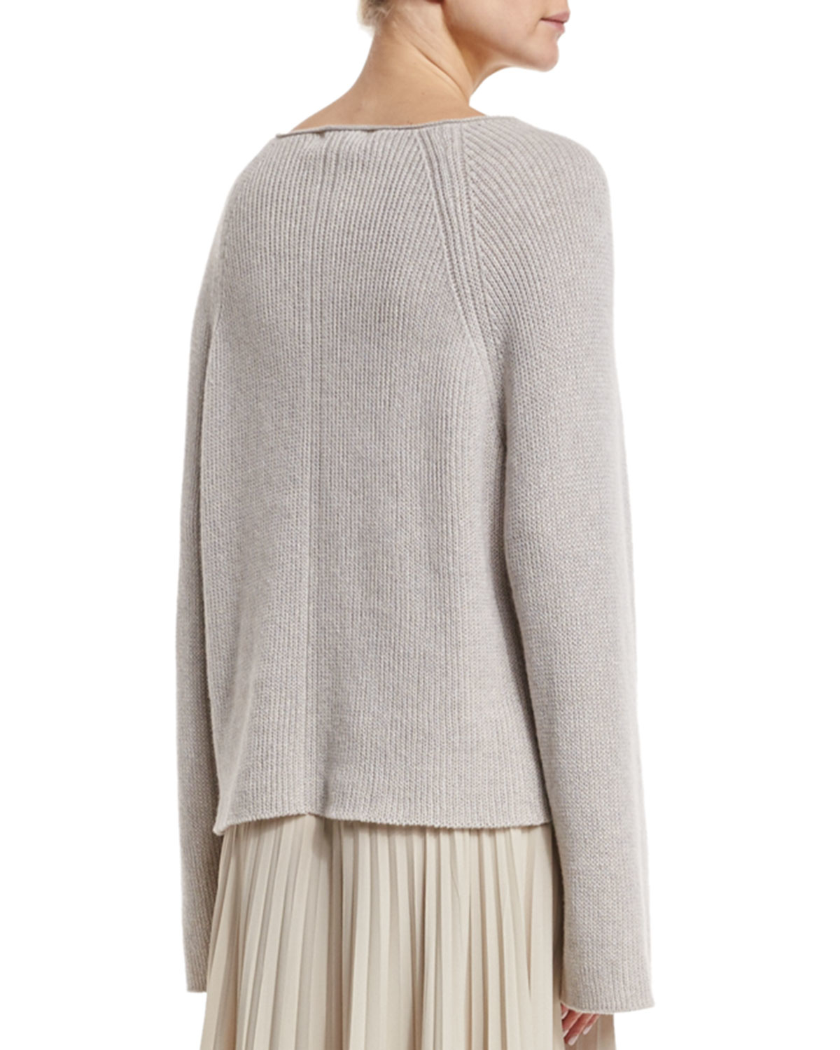 606f9b413ef6 Lyst - Helmut Lang Cashmere-blend Ribbed Pullover Sweater in Natural