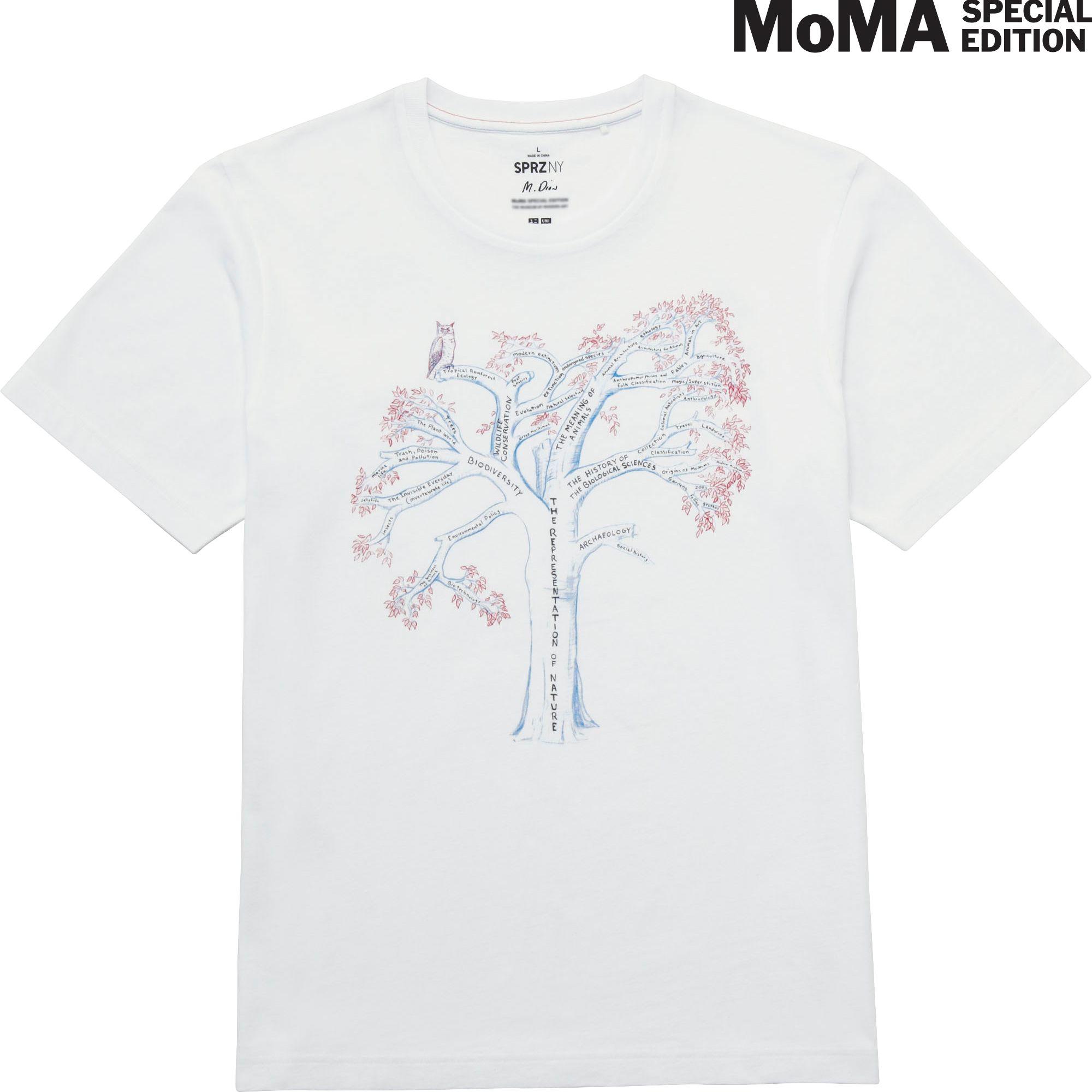 Uniqlo men sprz ny graphic t shirt mark dion in white for Uniqlo moma t shirt