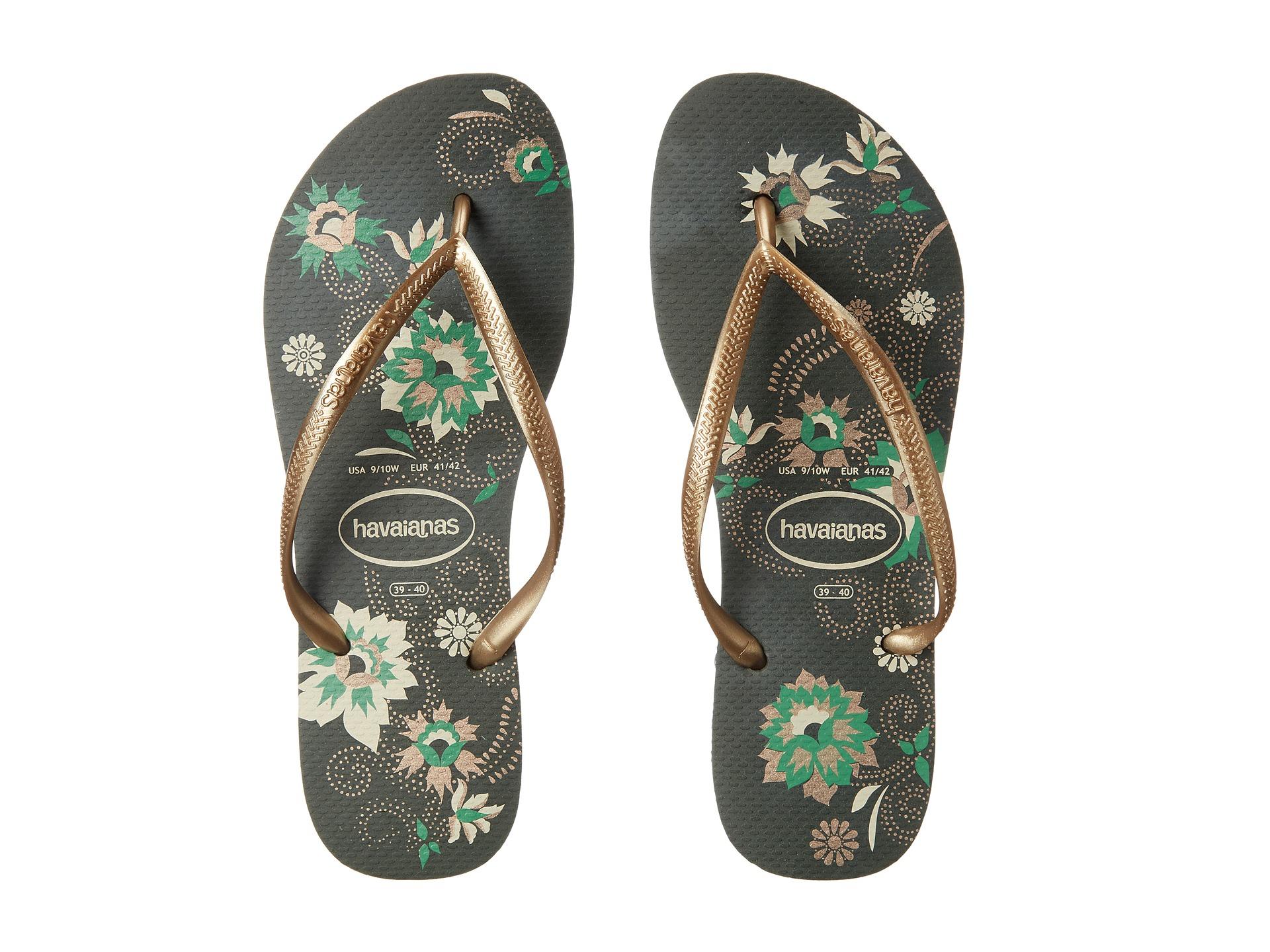 Lyst Havaianas Slim Organic Flip Flops In Green